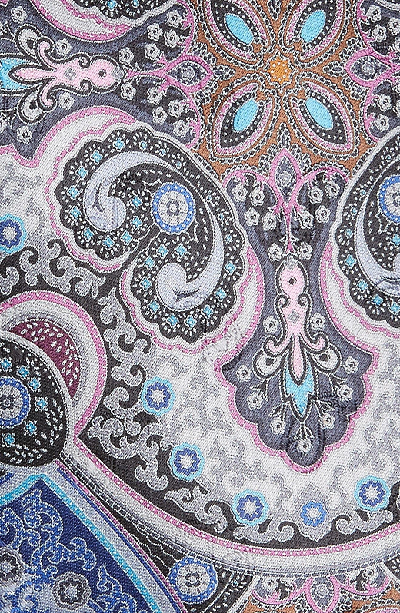 Quindici Paisley Silk Tie,                             Alternate thumbnail 2, color,                             Blue