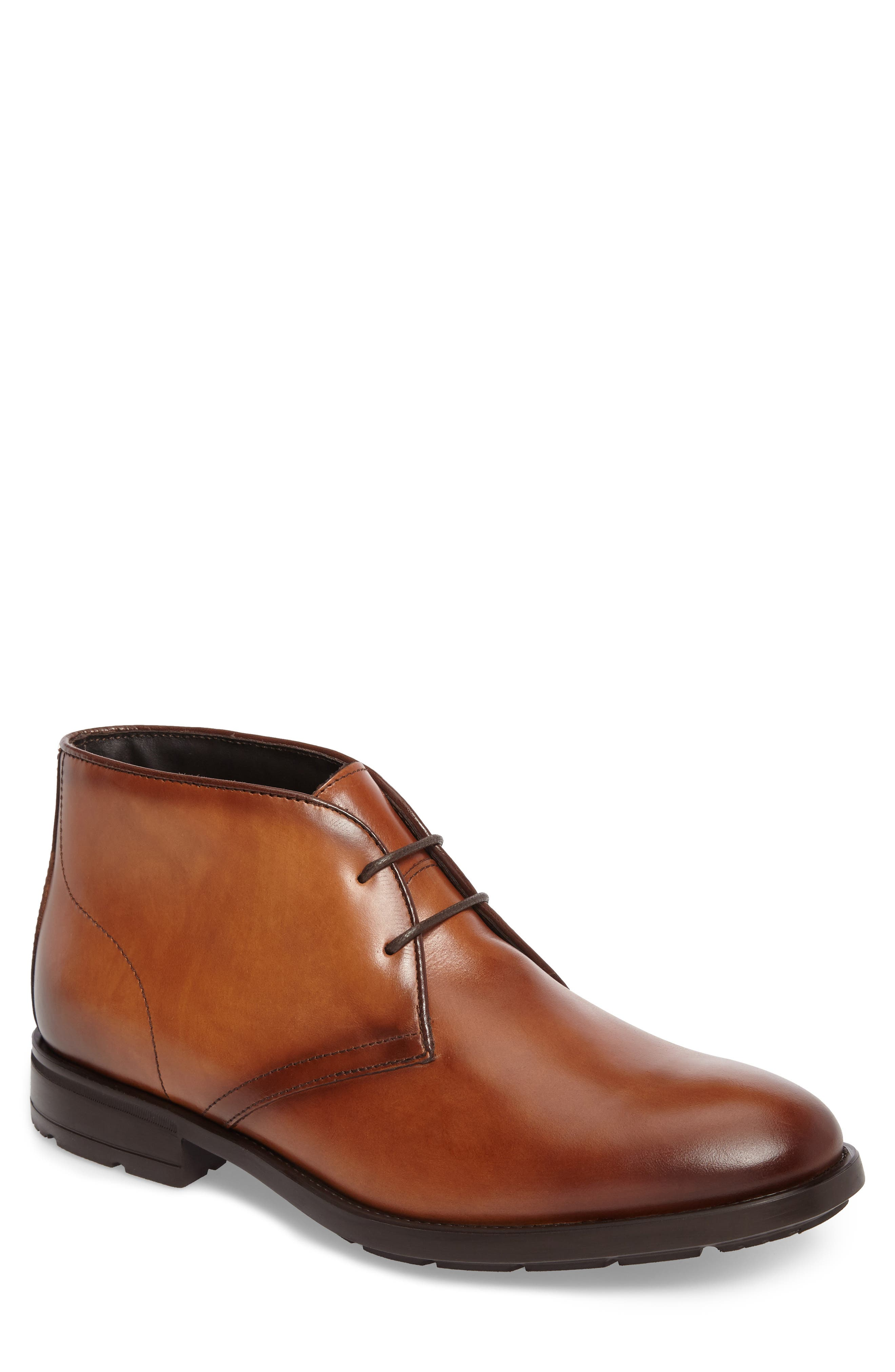 Conte Chukka Boot,                         Main,                         color, Cognac Leather