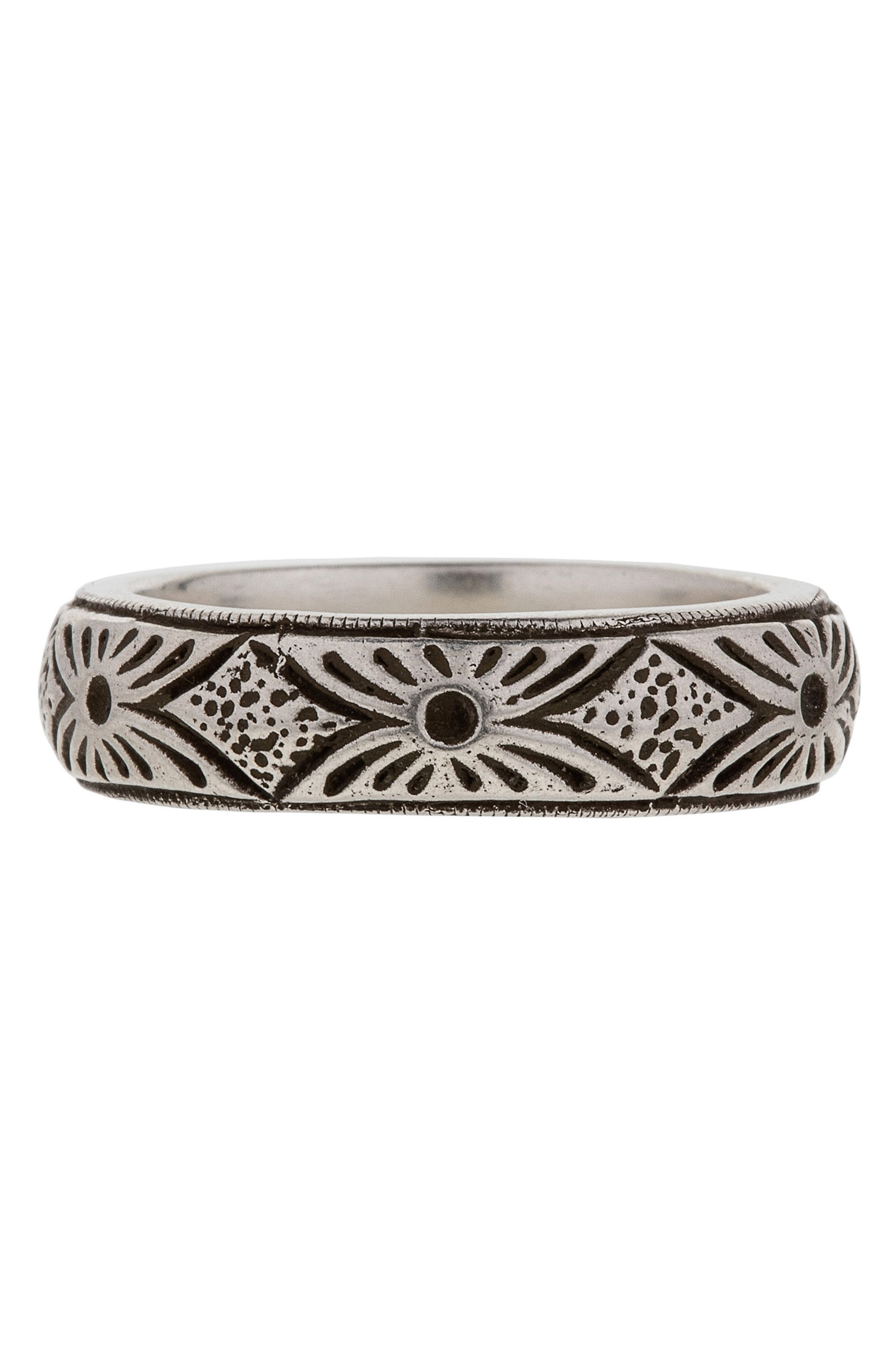 Yates Sterling Silver Ring,                         Main,                         color, Silver