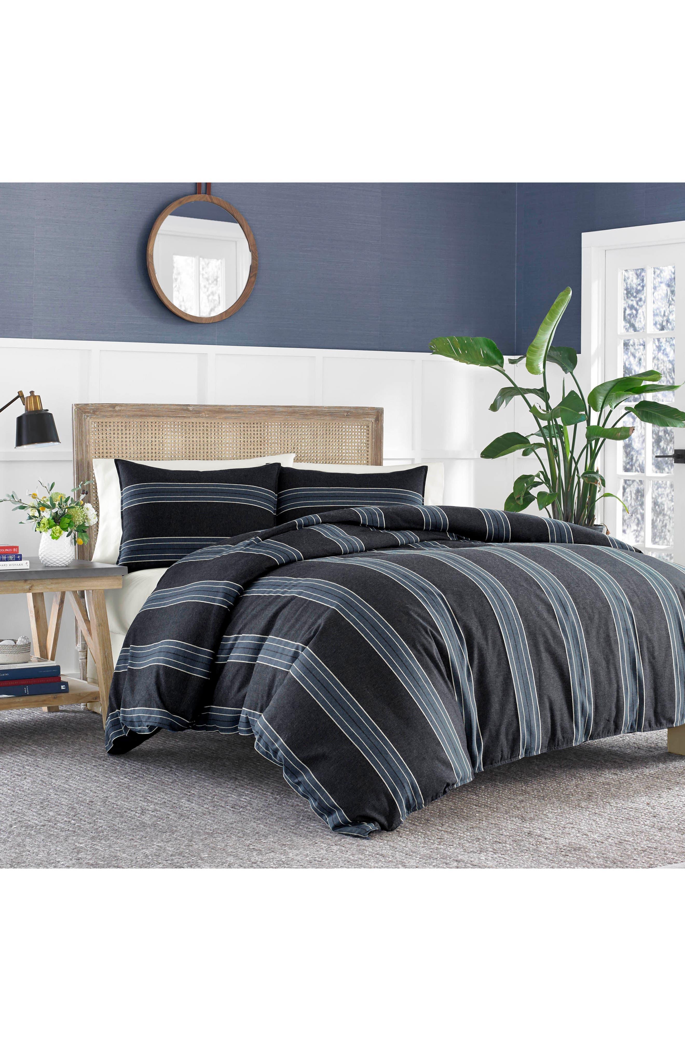 Lockridge Comforter & Sham Set,                         Main,                         color, Dark Blue