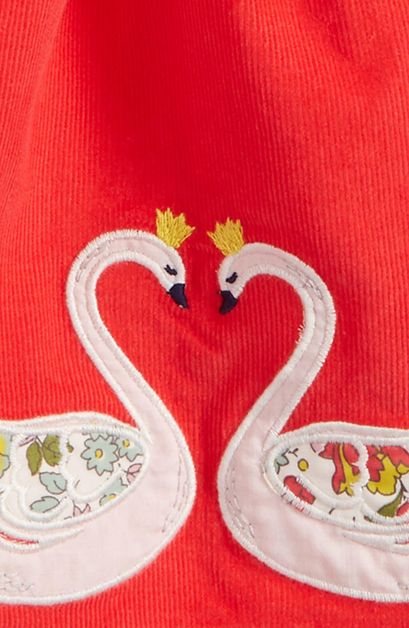 Fairytale Appliqué Corduroy Skirt,                             Alternate thumbnail 2, color,                             Pink Berry