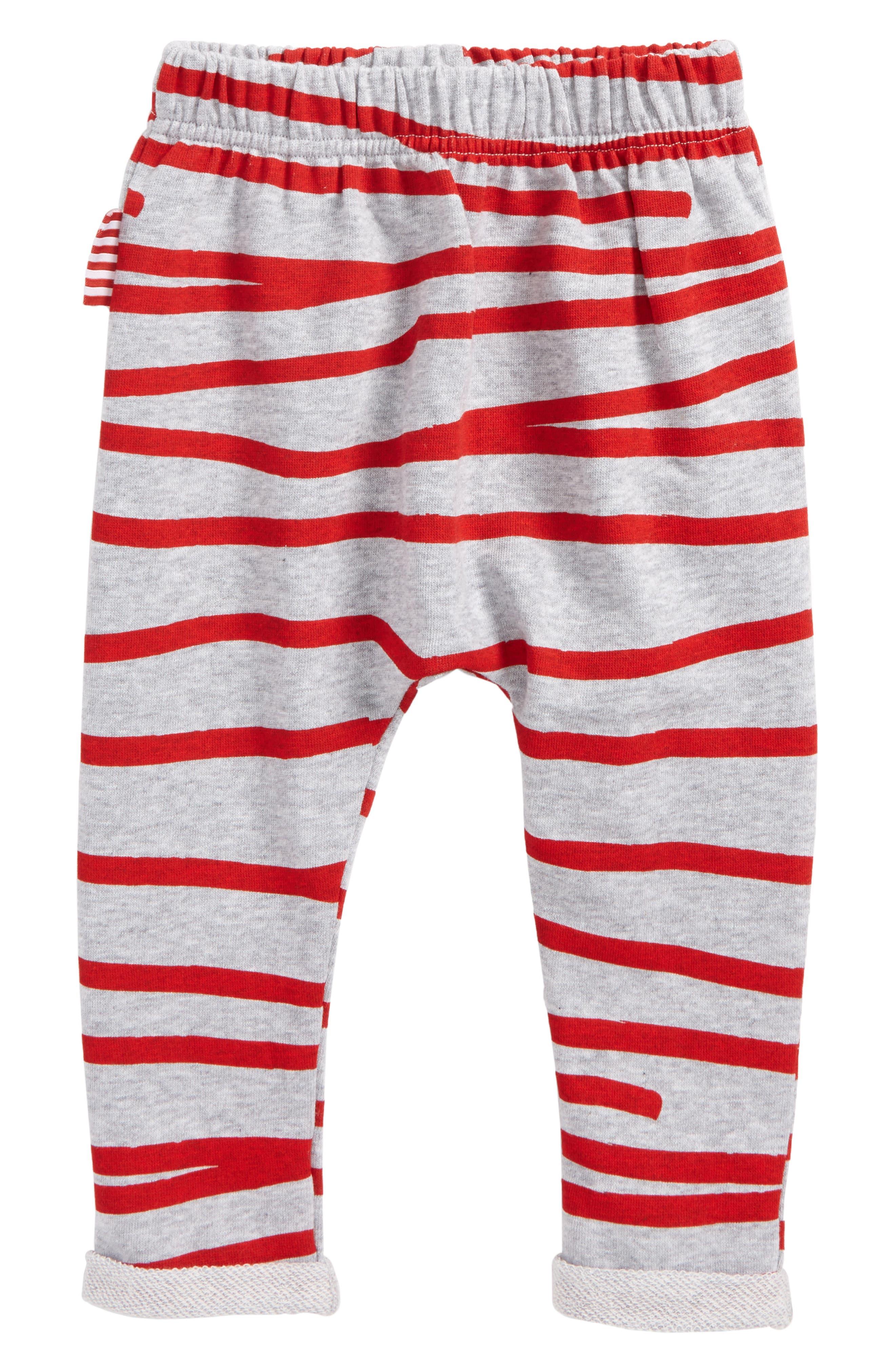 Stripe Jogger Pants,                         Main,                         color, Greymarle/ Red