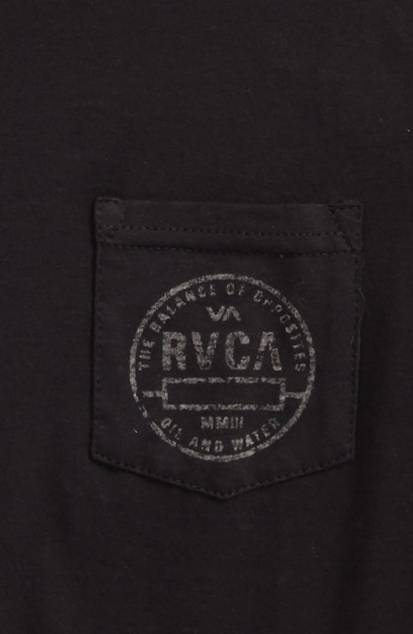 Alternate Image 2  - RVCA Stamp Pocket T-Shirt (Big Boys)