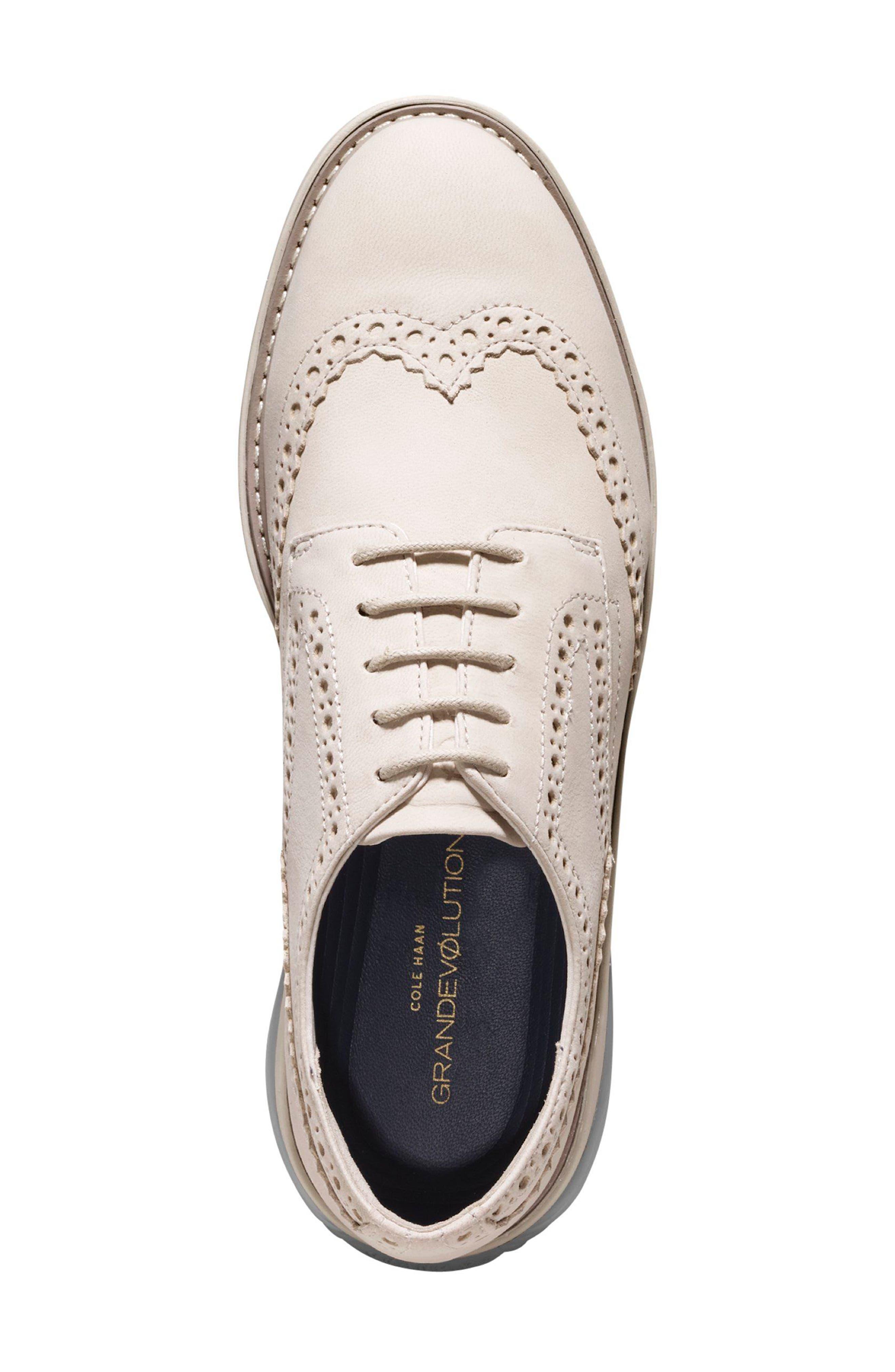 Grandevolution Shortwing Oxford Sneaker,                             Alternate thumbnail 4, color,                             Pumice Stone Nubuck