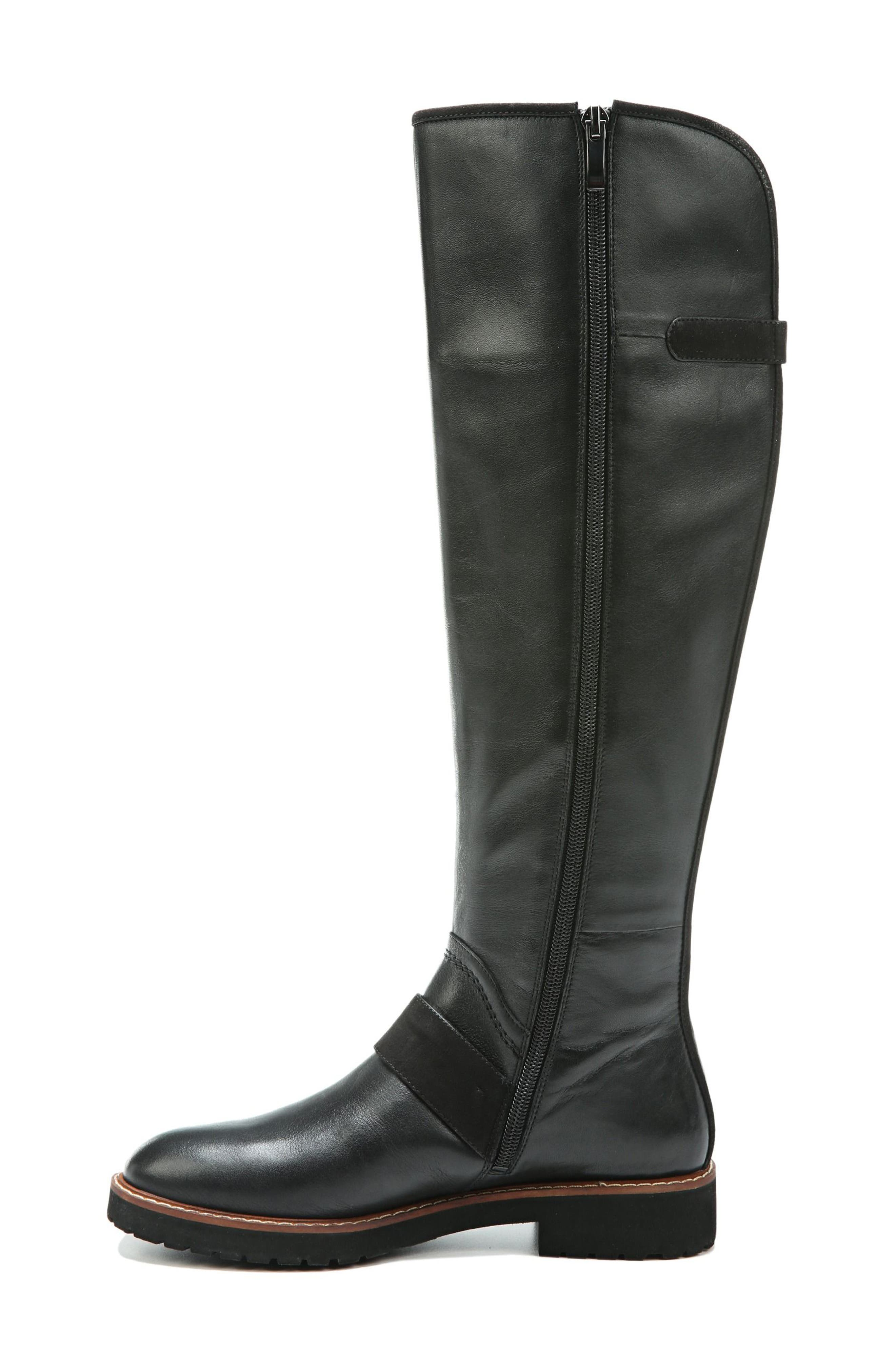 Cutler Riding Boot,                             Alternate thumbnail 2, color,                             Black Leather