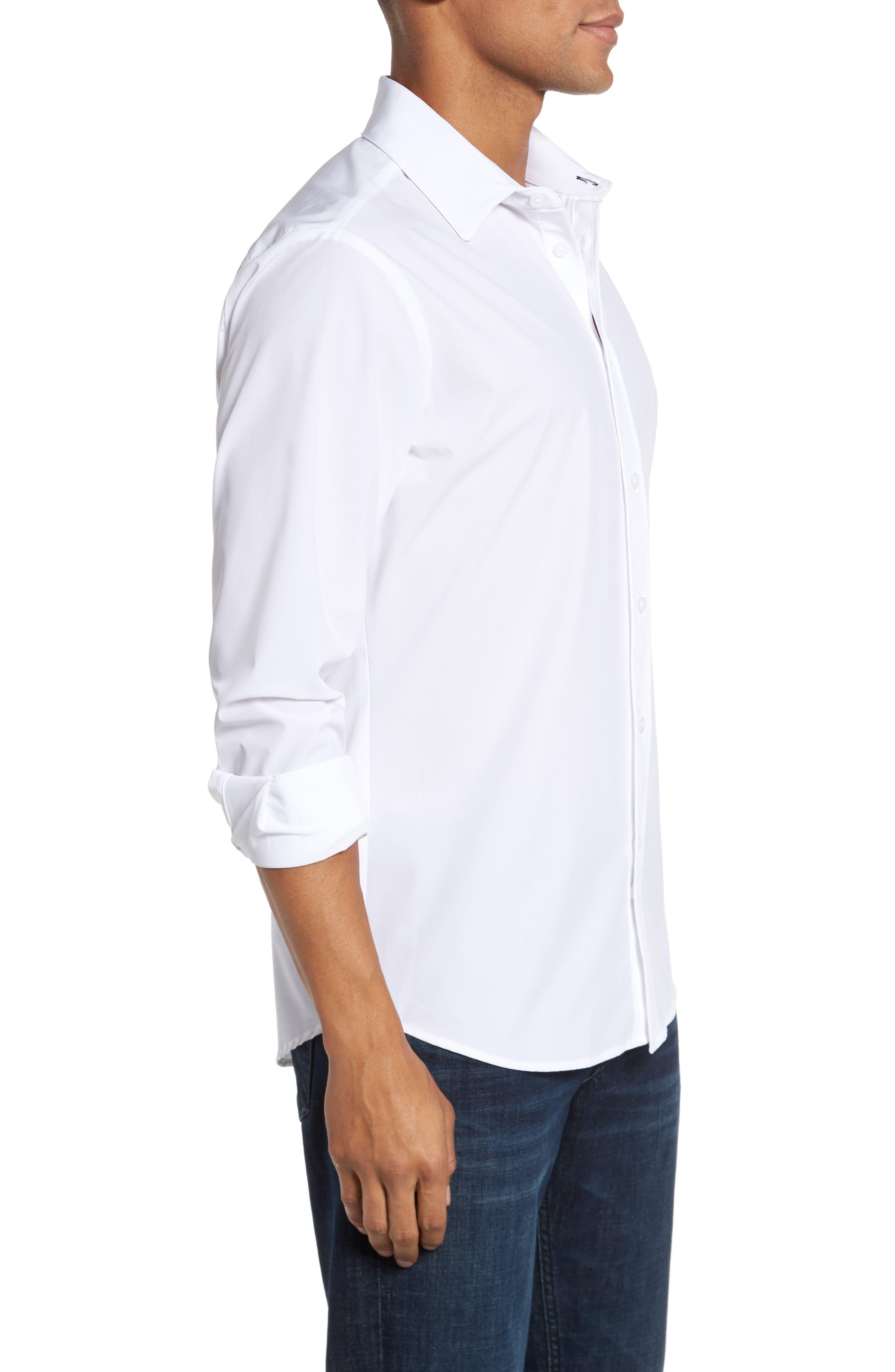 Stockton Sport Shirt,                             Alternate thumbnail 4, color,                             White