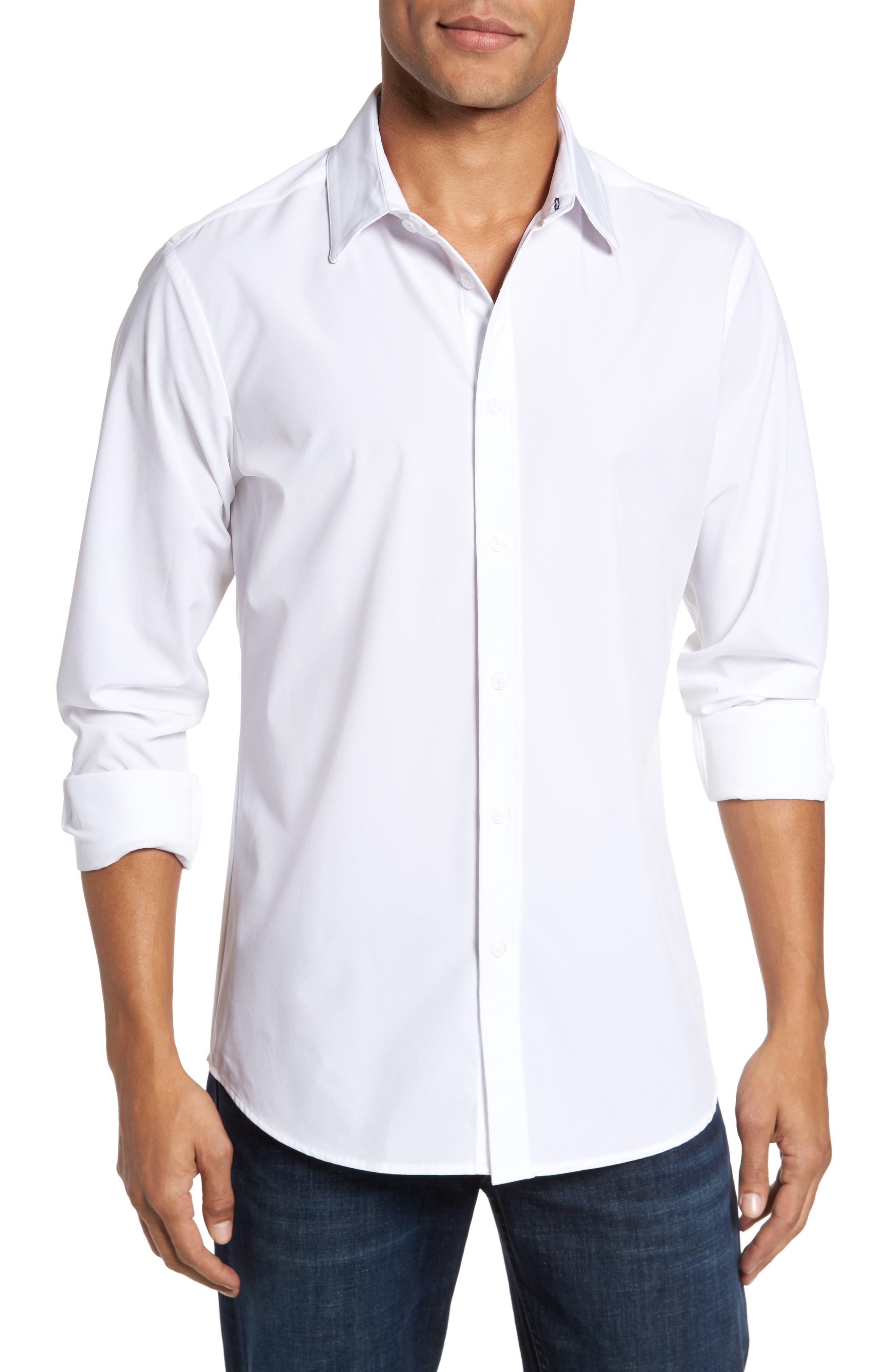 Stockton Sport Shirt,                             Main thumbnail 1, color,                             White