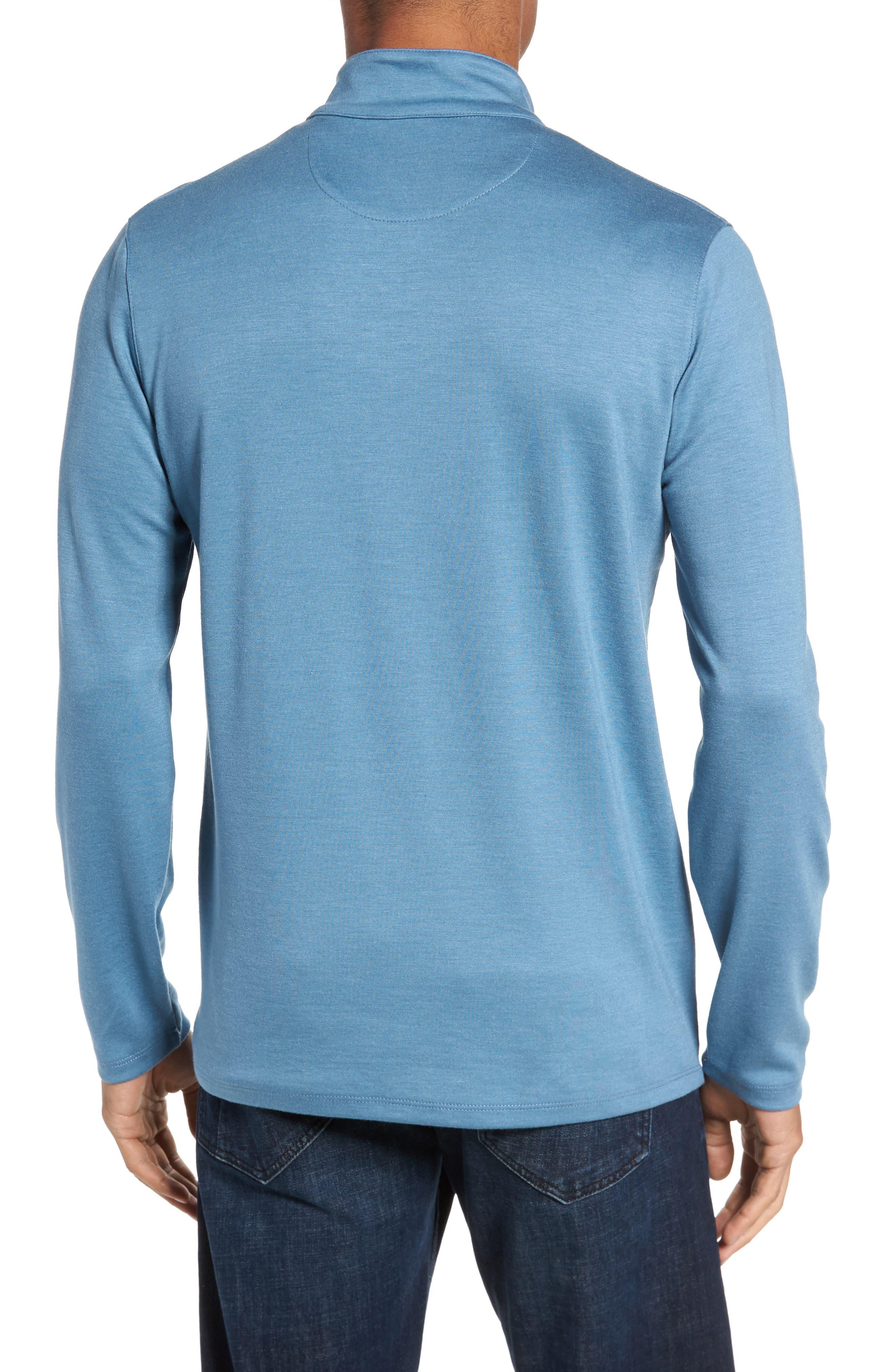 Quarter Zip Pullover,                             Alternate thumbnail 2, color,                             Blue