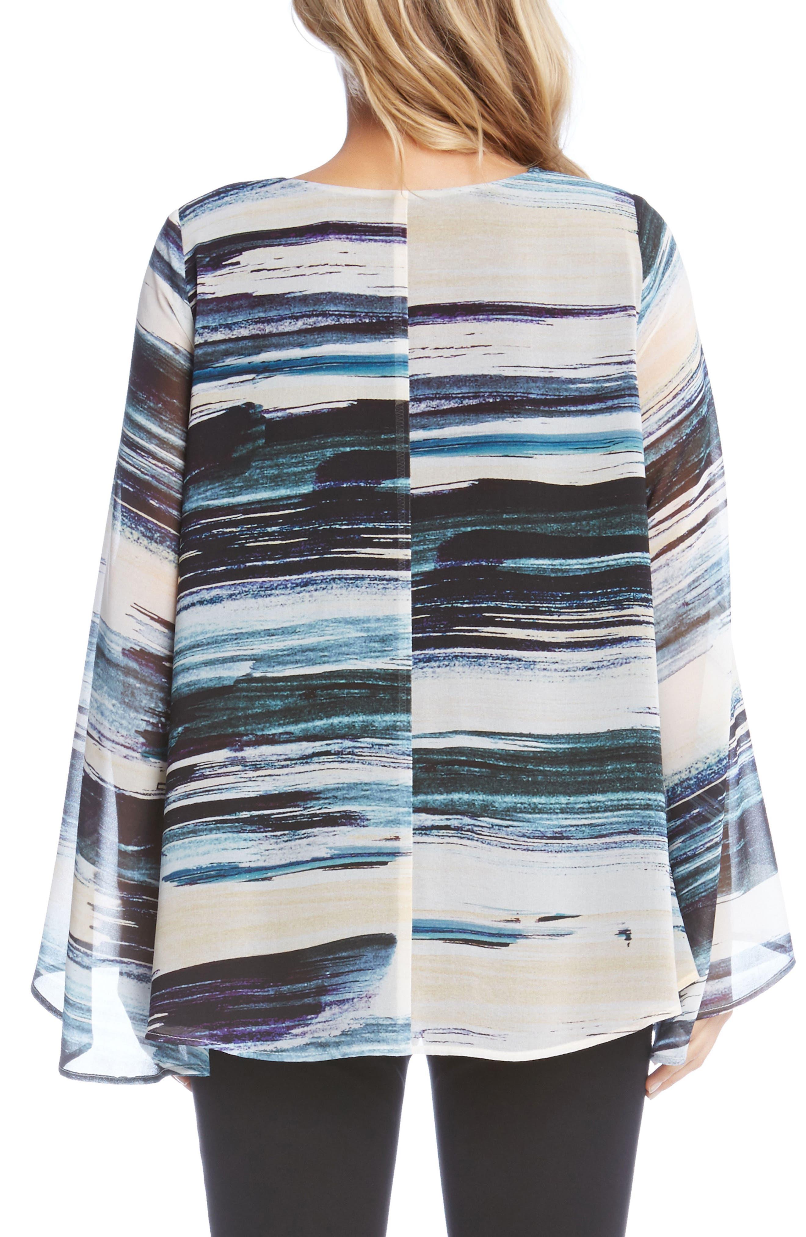Alternate Image 3  - Karen Kane V-Neck Bell Sleeve Top