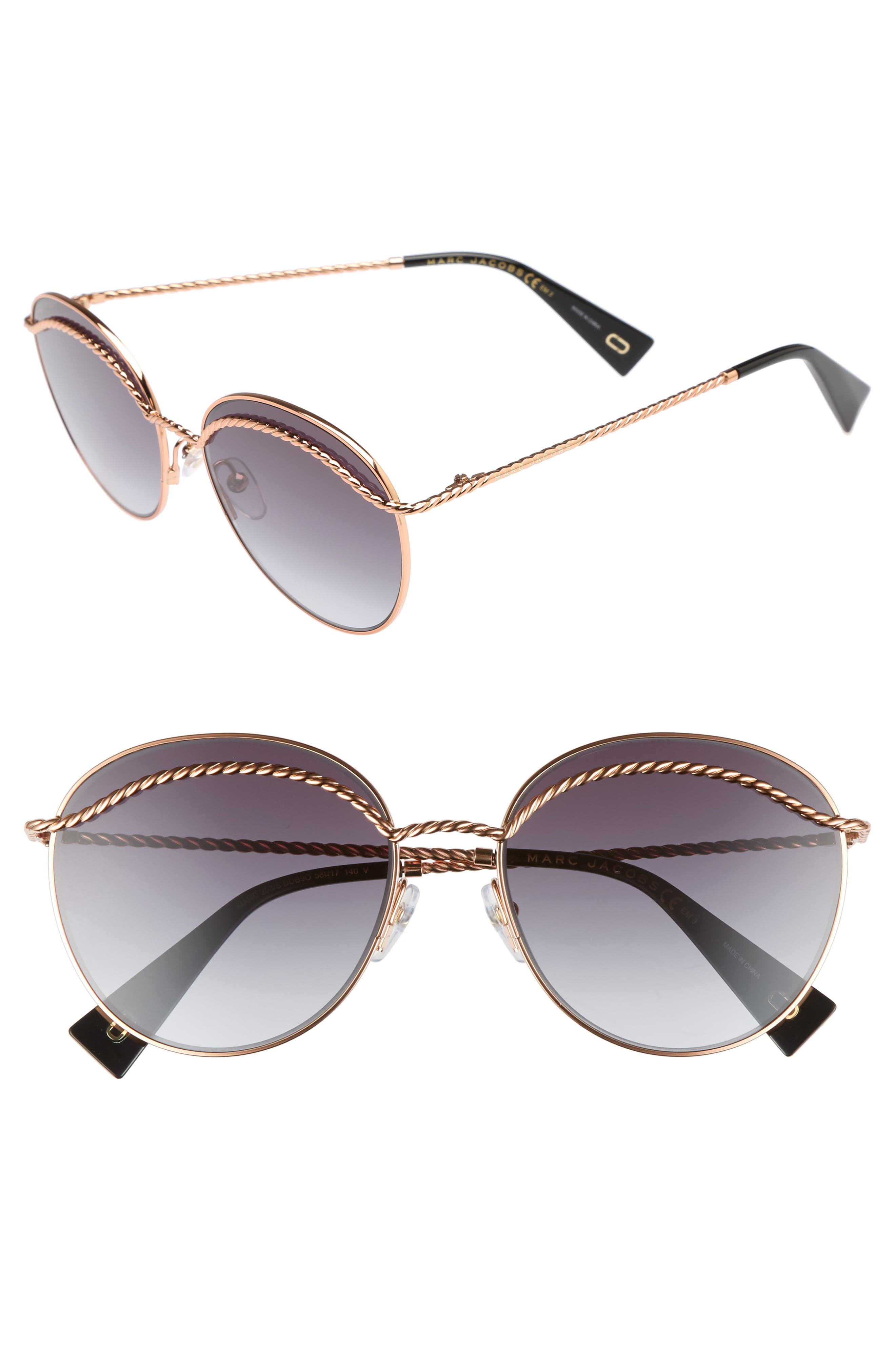 Alternate Image 1 Selected - MARC JACOBS 58mm Round Sunglasses