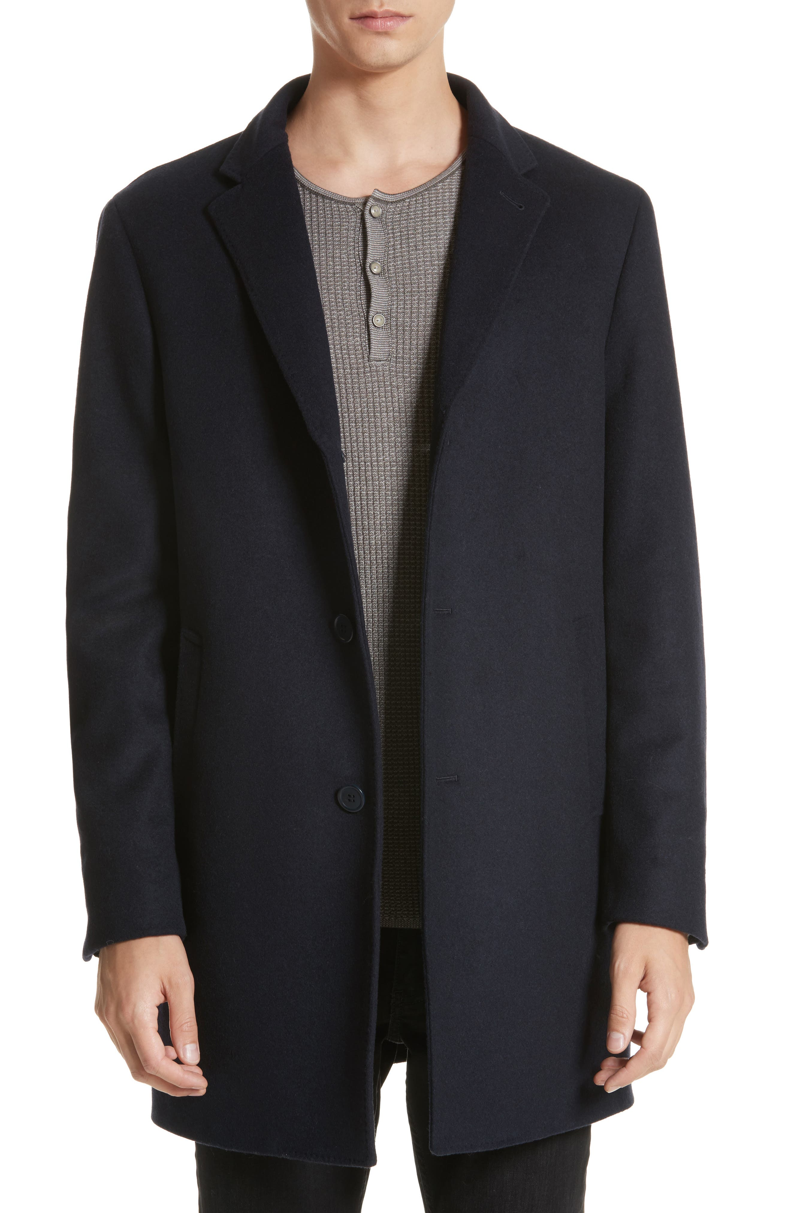 John Varvatos Star USA Walsh Wool Blend Topcoat
