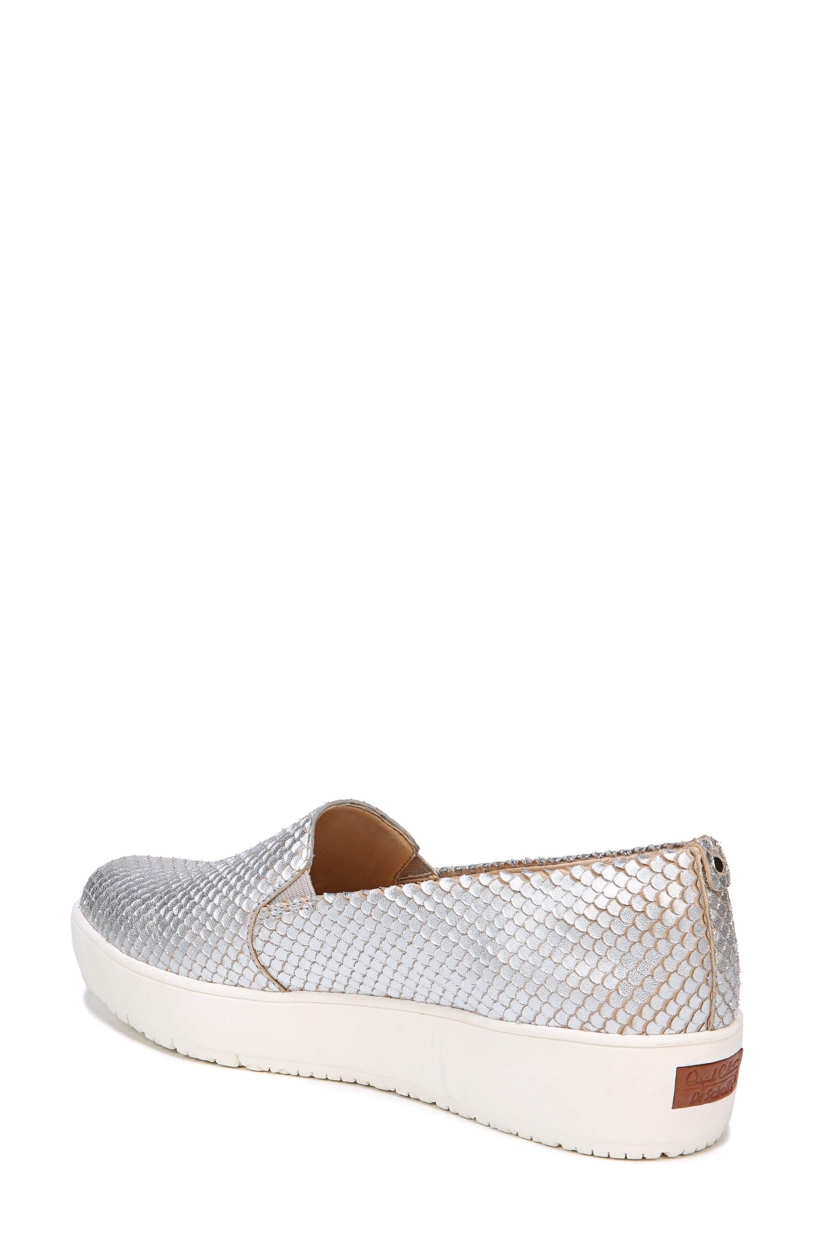 Bradyn Slip-On Sneaker,                             Alternate thumbnail 2, color,                             Silver Leather