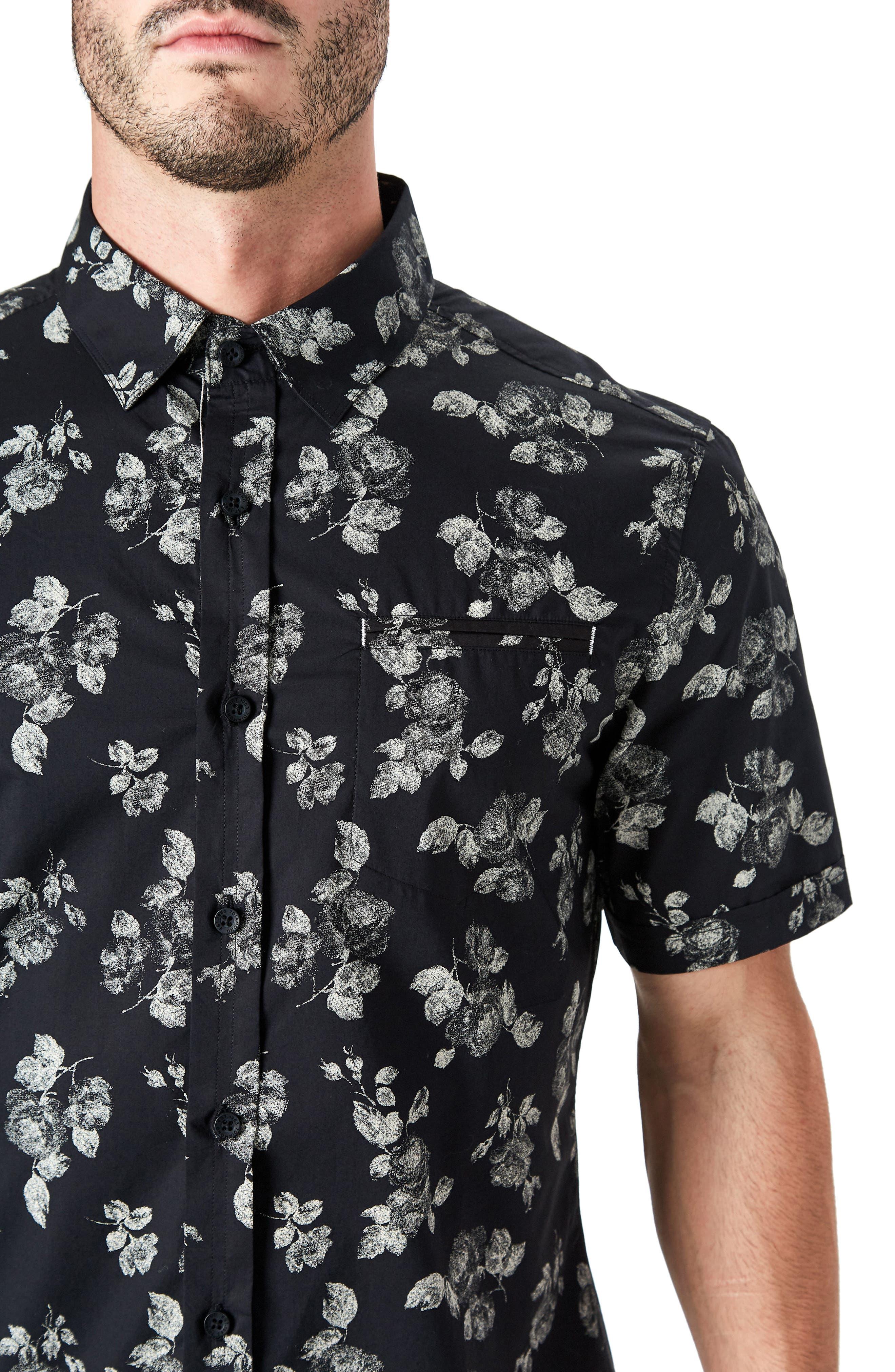 Human Nature Woven Shirt,                             Alternate thumbnail 4, color,                             Black