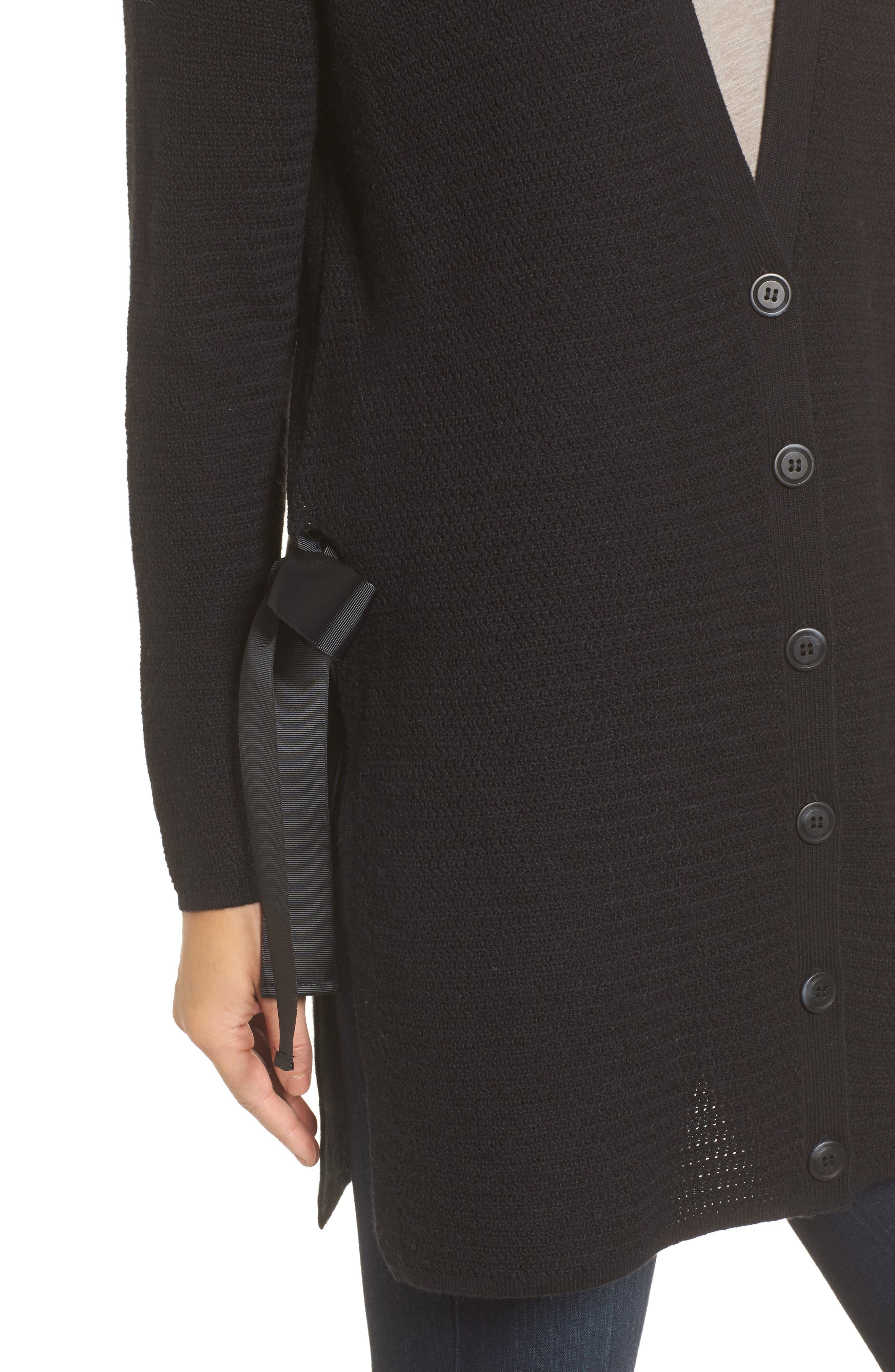 Alternate Image 4  - Halogen® Side Tie Cardigan (Regular & Petite)