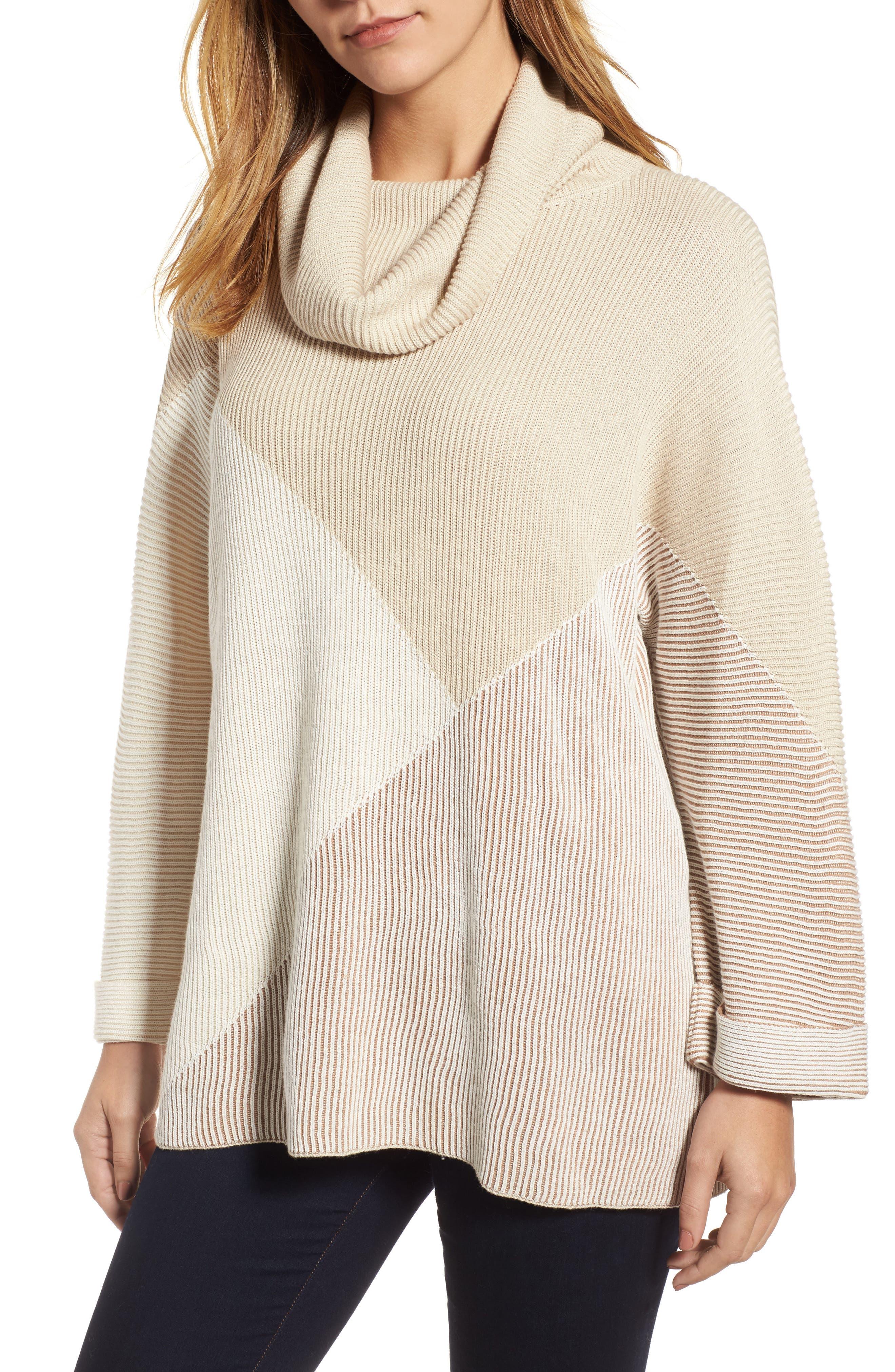 Linear Cozy Top,                         Main,                         color, Beige Multi