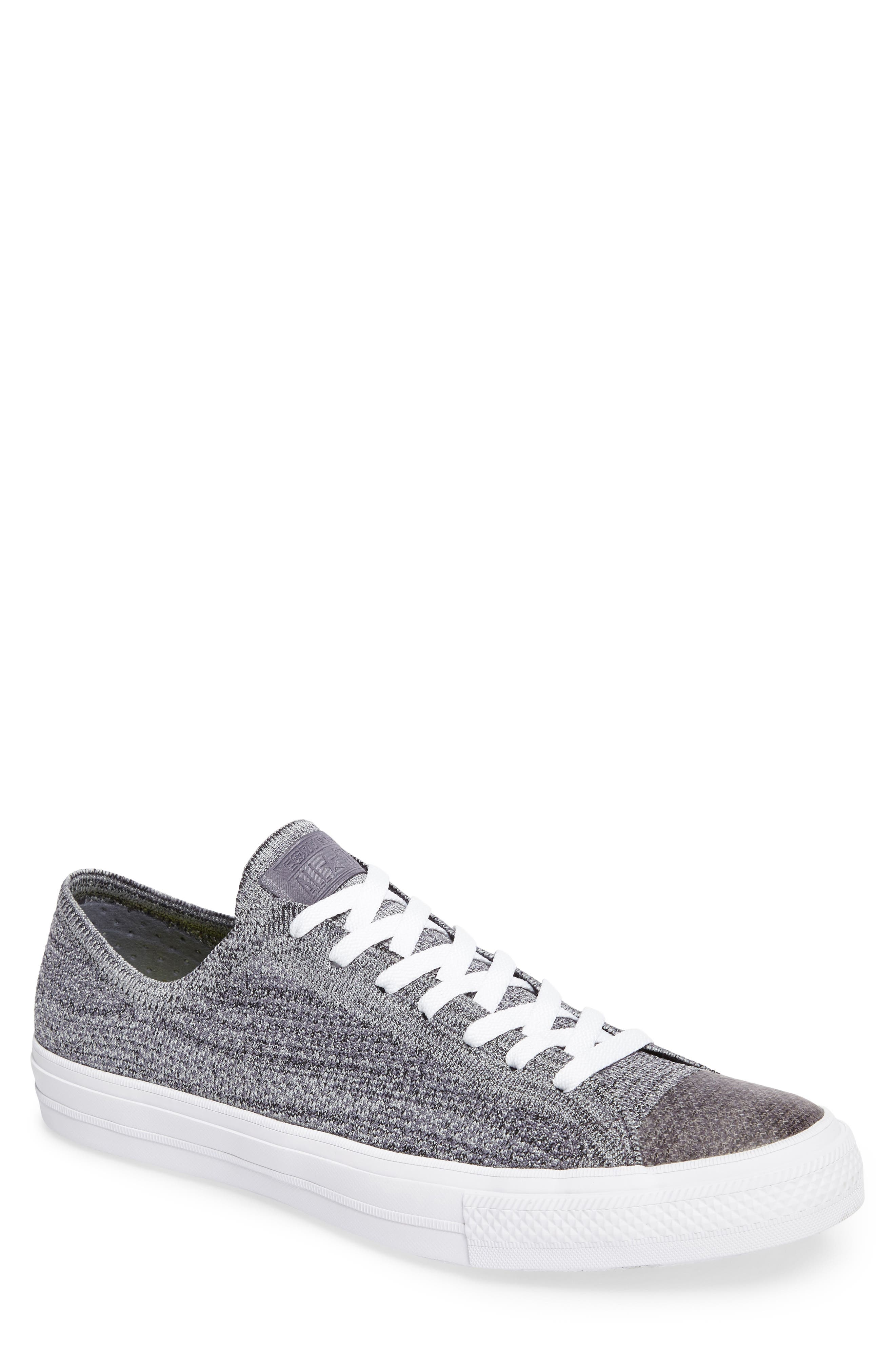 Chuck Taylor<sup>®</sup> All Star<sup>®</sup> Flyknit Sneaker,                         Main,                         color, Carbon