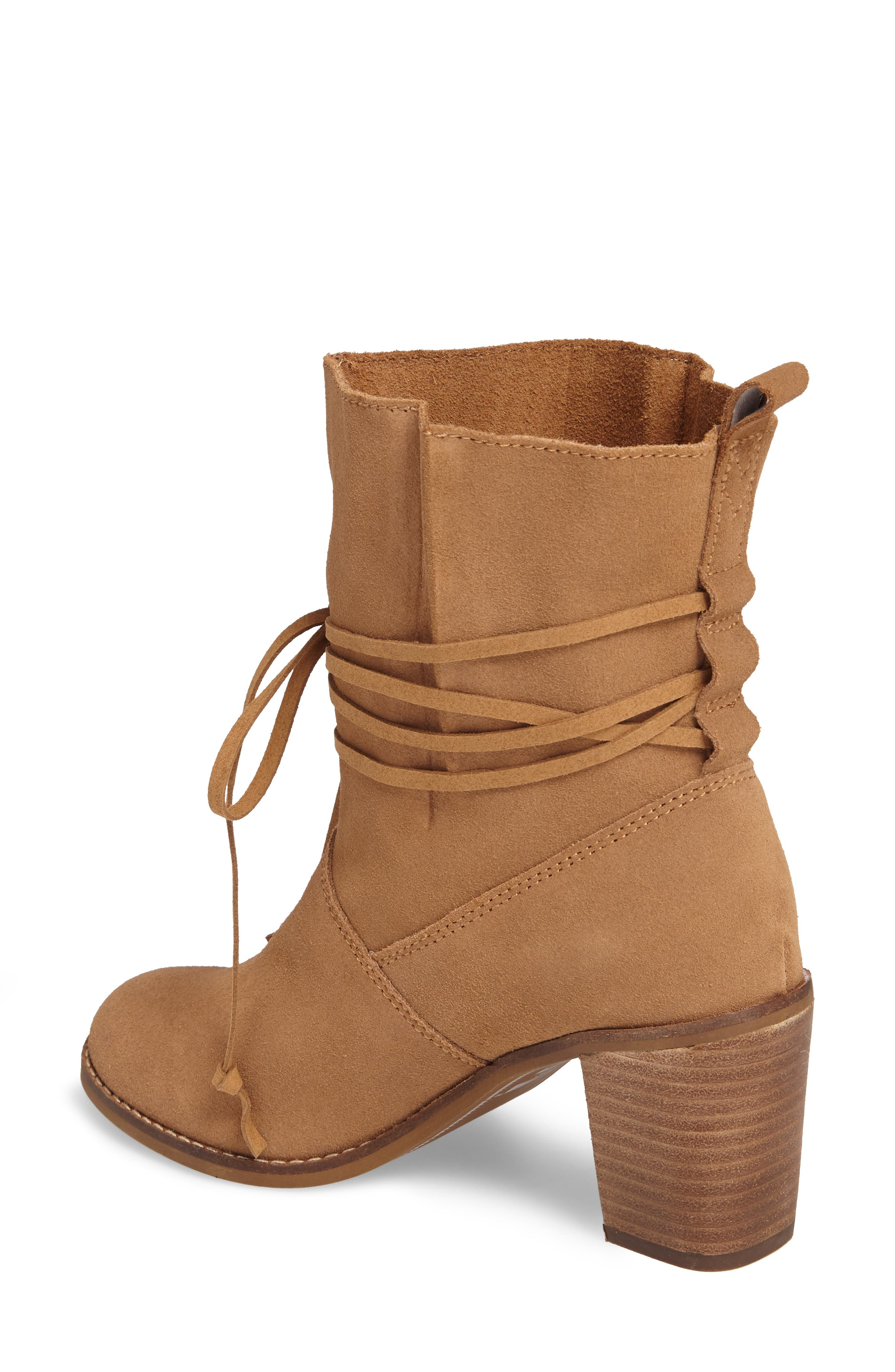 Mila Bootie,                             Alternate thumbnail 2, color,                             Toffee Suede