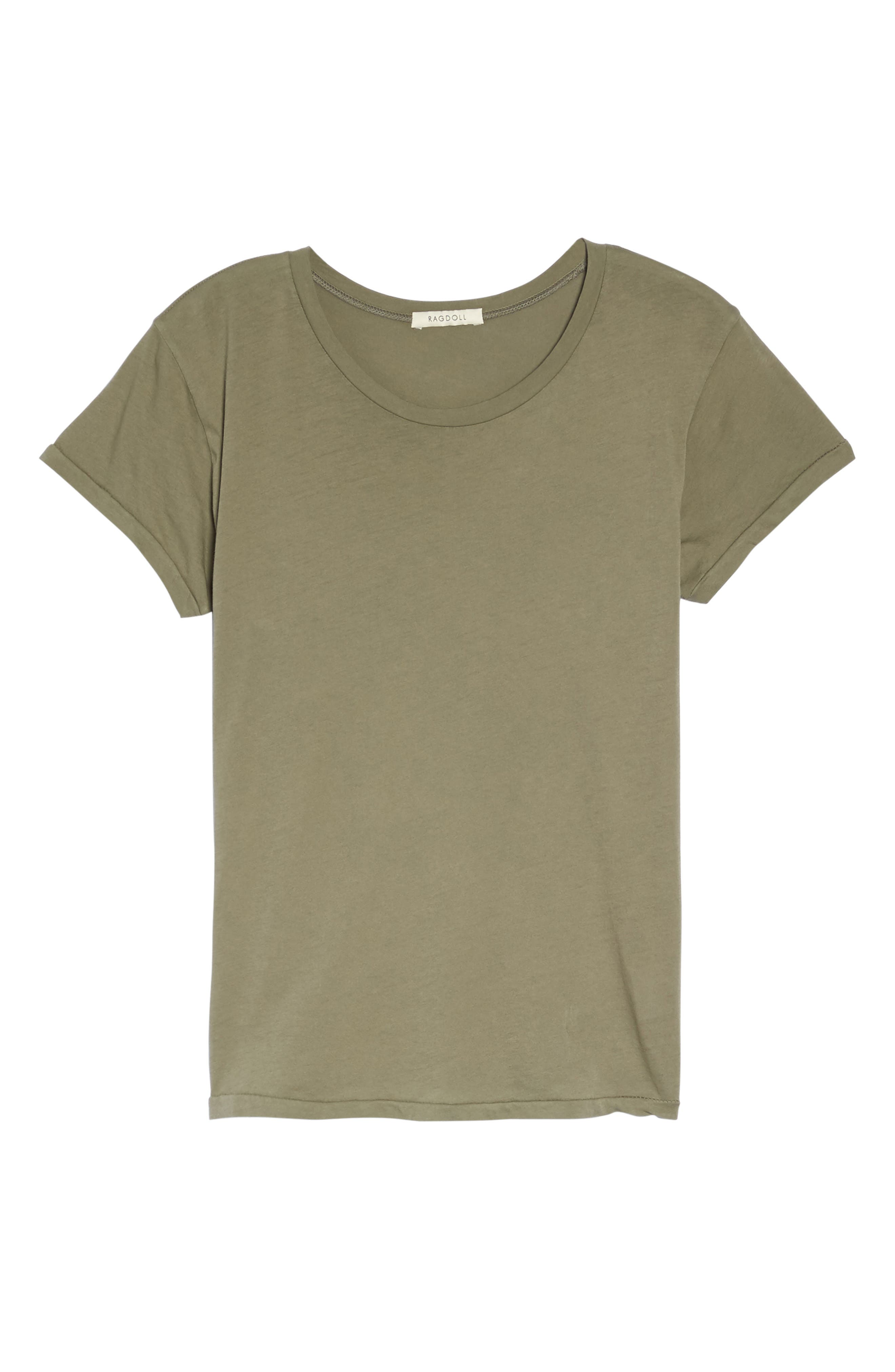 Tee,                             Alternate thumbnail 4, color,                             Army