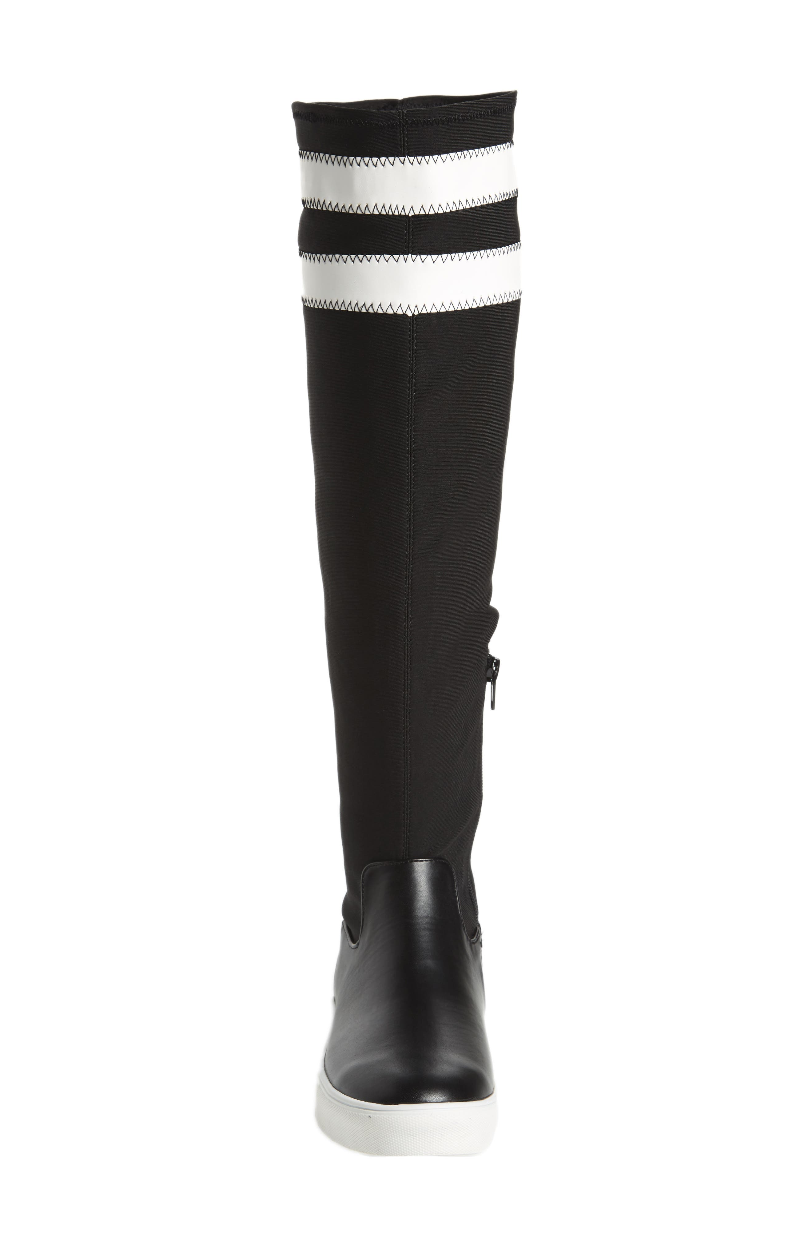 Melody Over the Knee Boot,                             Alternate thumbnail 4, color,                             Black