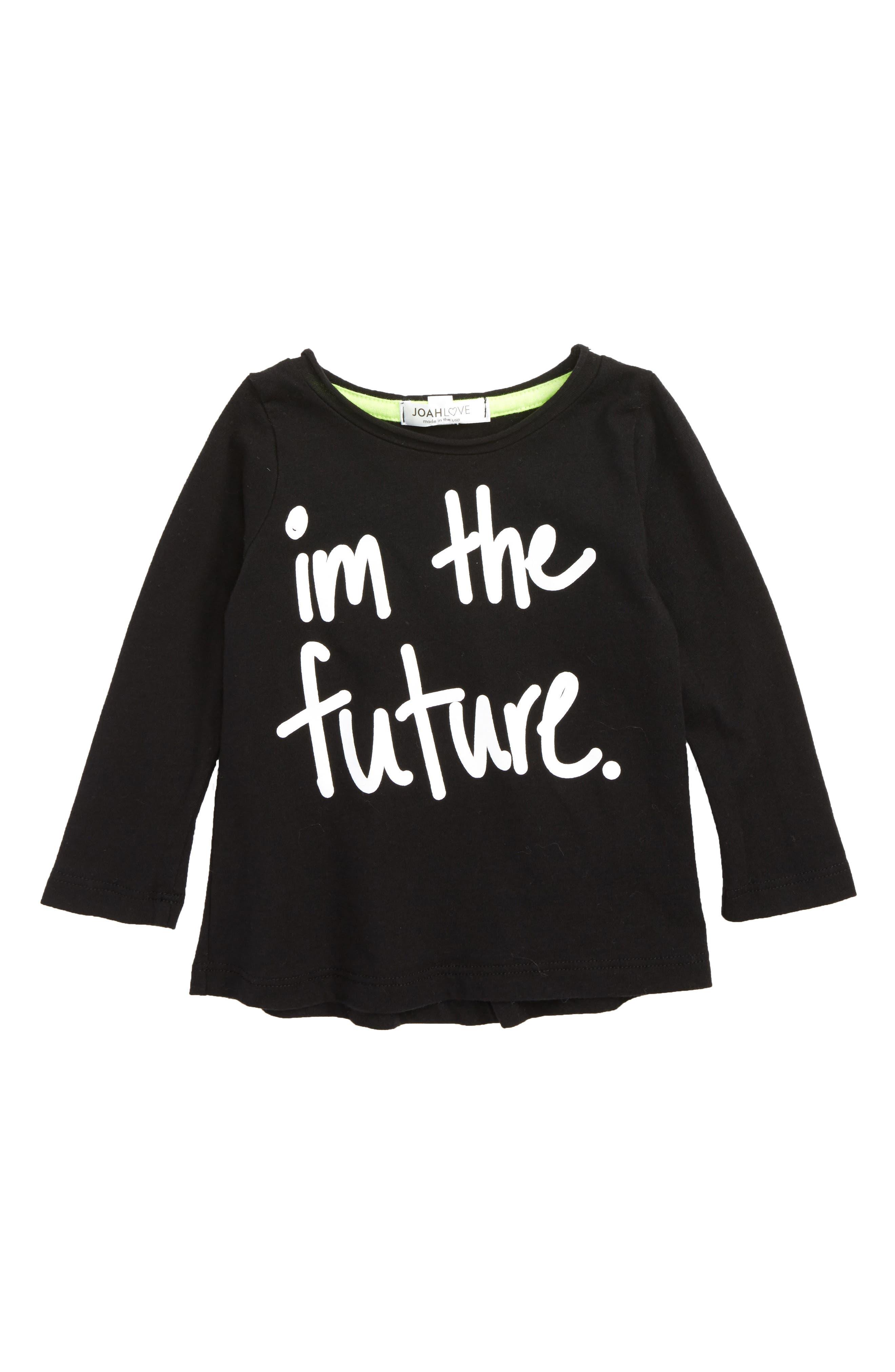 I'm The Future Graphic T-Shirt,                             Main thumbnail 1, color,                             Black