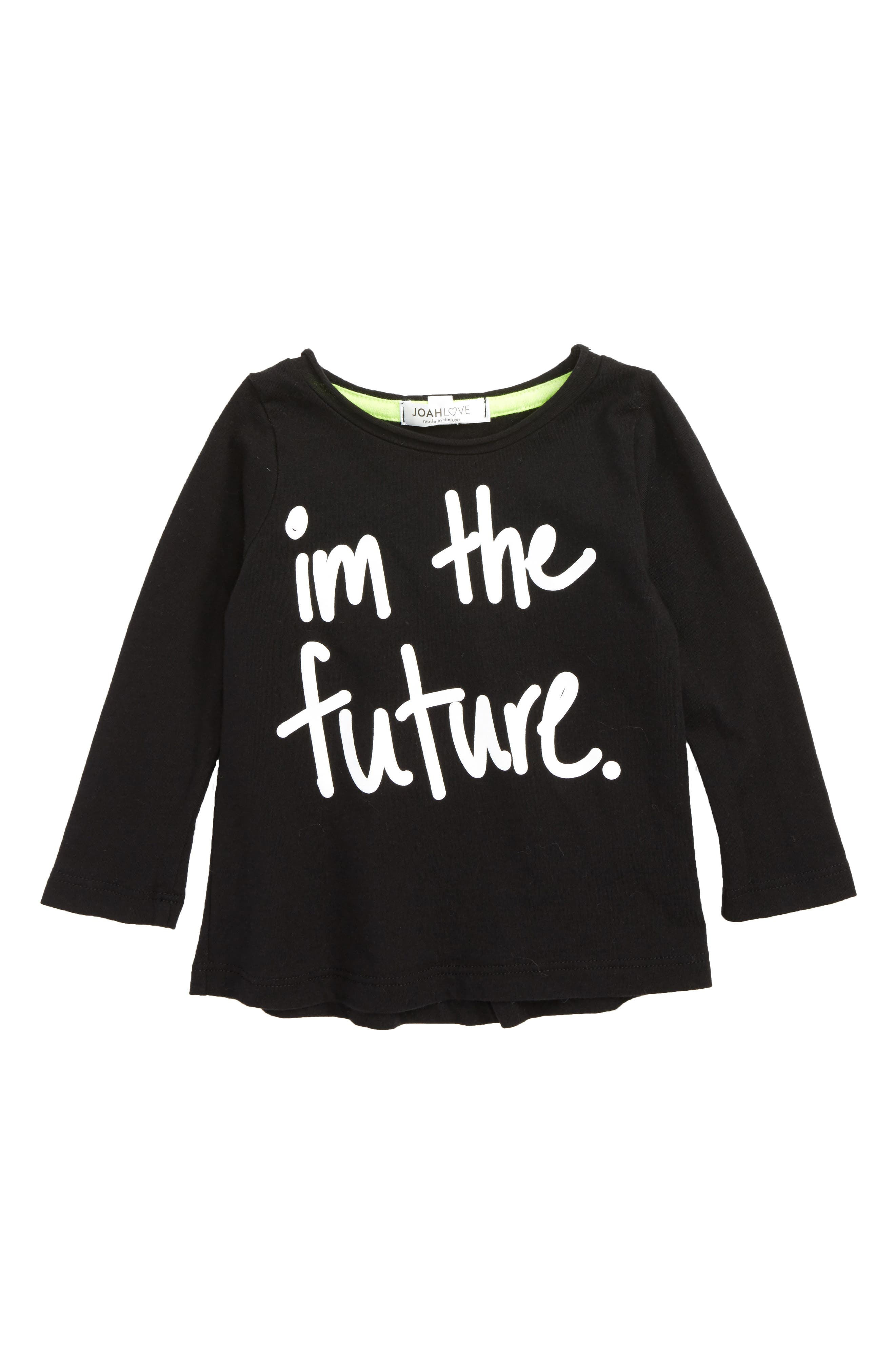 I'm The Future Graphic T-Shirt,                         Main,                         color, Black