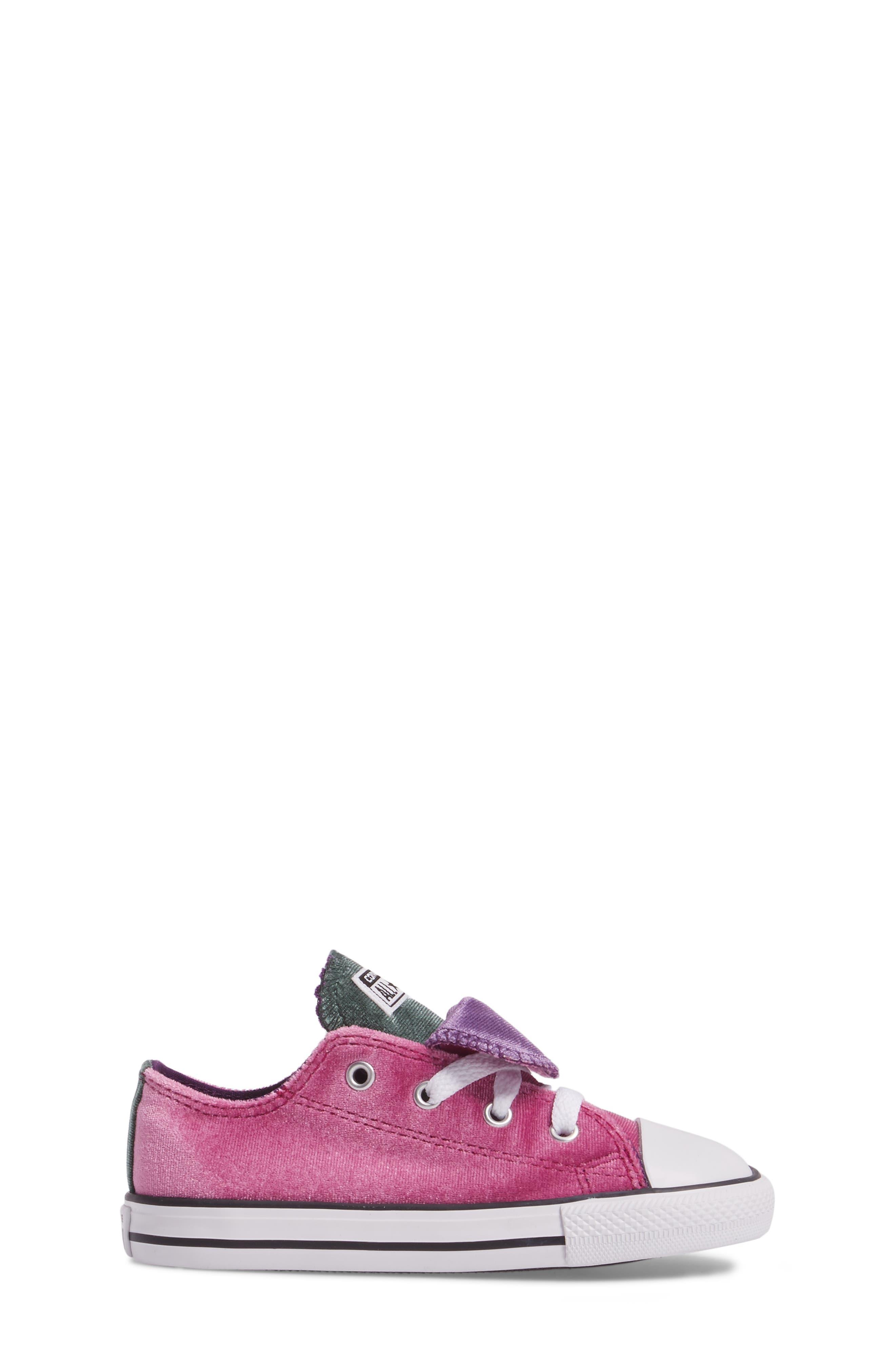 All Star<sup>®</sup> Velvet Double Tongue Sneaker,                             Alternate thumbnail 3, color,                             Pink Sapphire Velvet