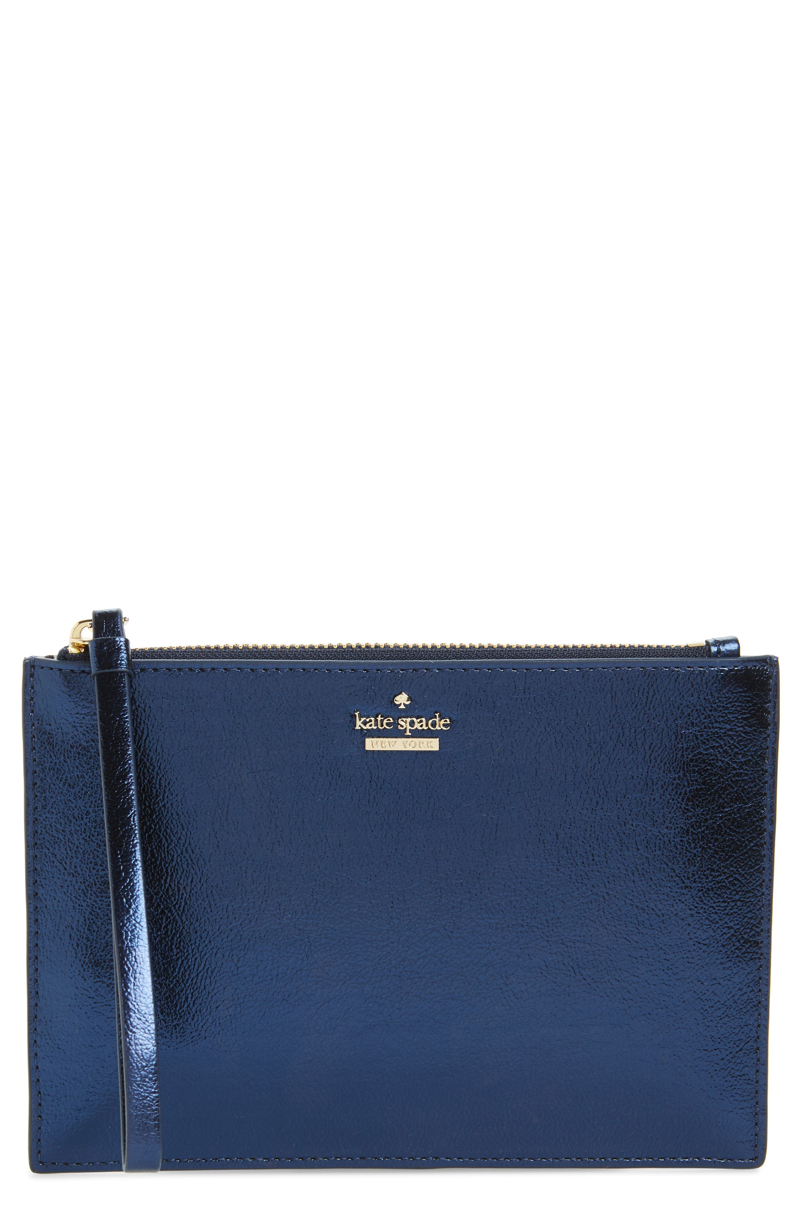 highland drive - yury faux leather zip pouch,                         Main,                         color, Sapphire