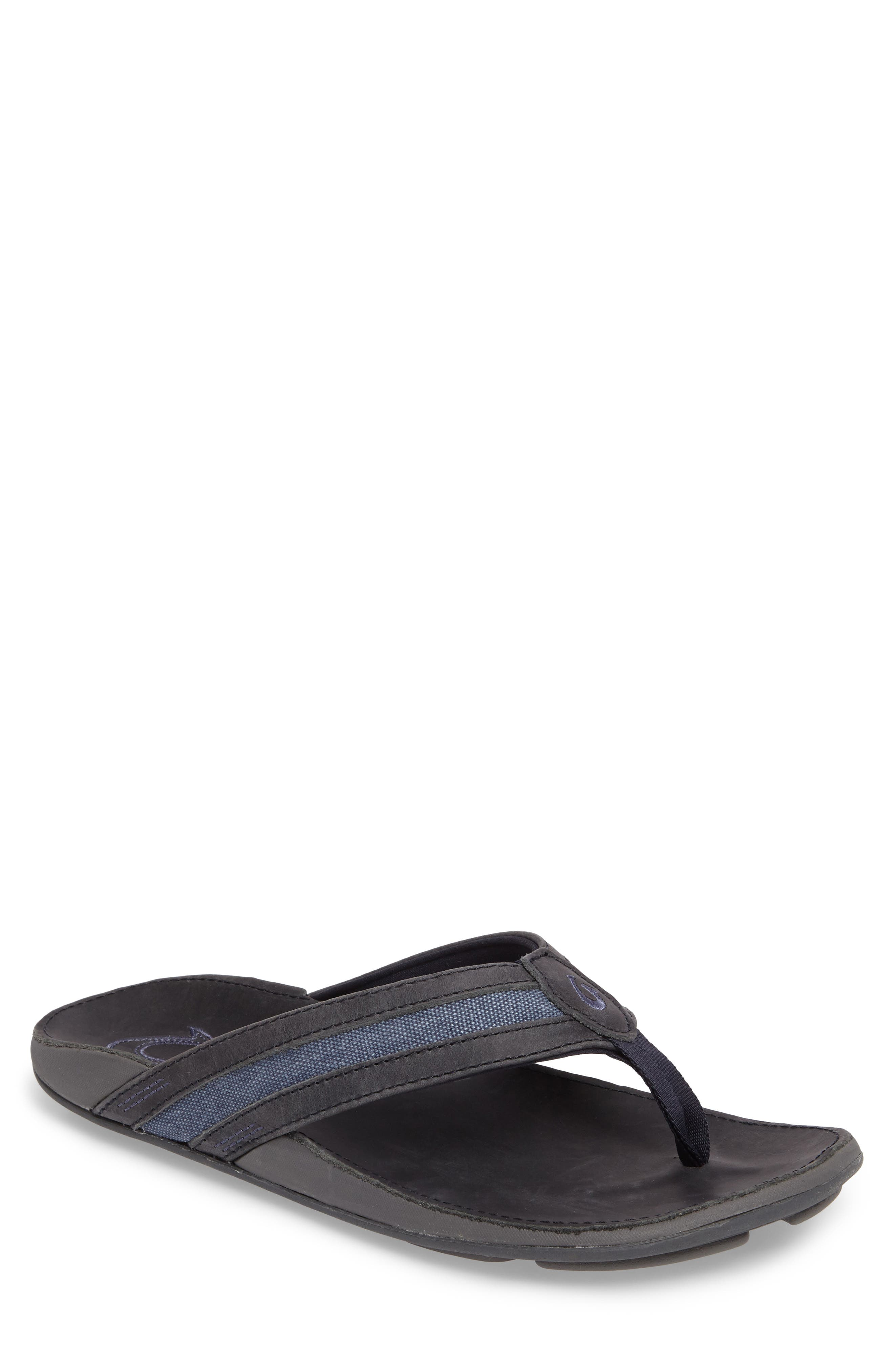 Ikoi Flip Flop,                         Main,                         color, Trench Blue Leather