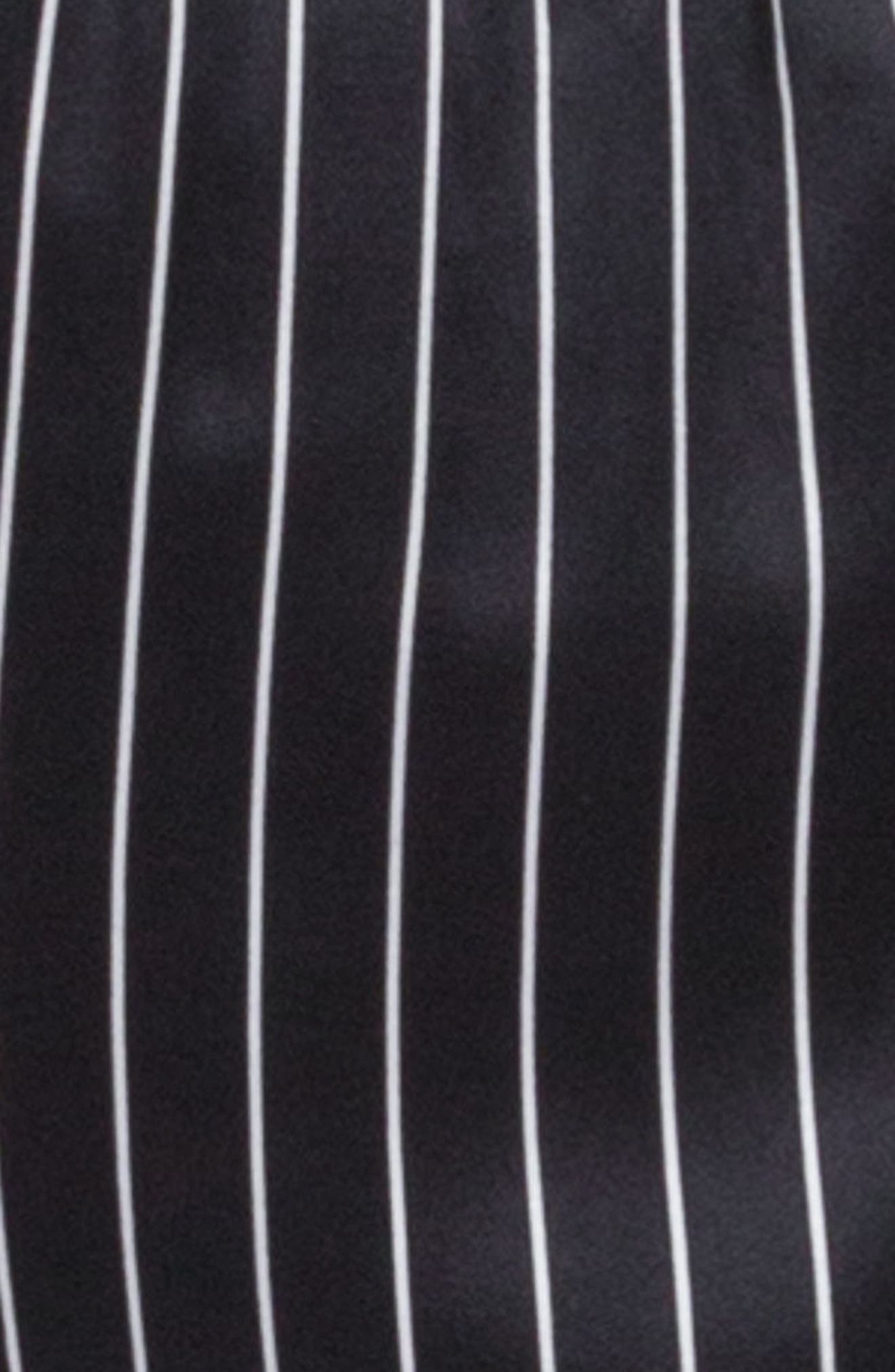 Alternate Image 6  - Ragdoll Pinstripe Silk Pajama Top