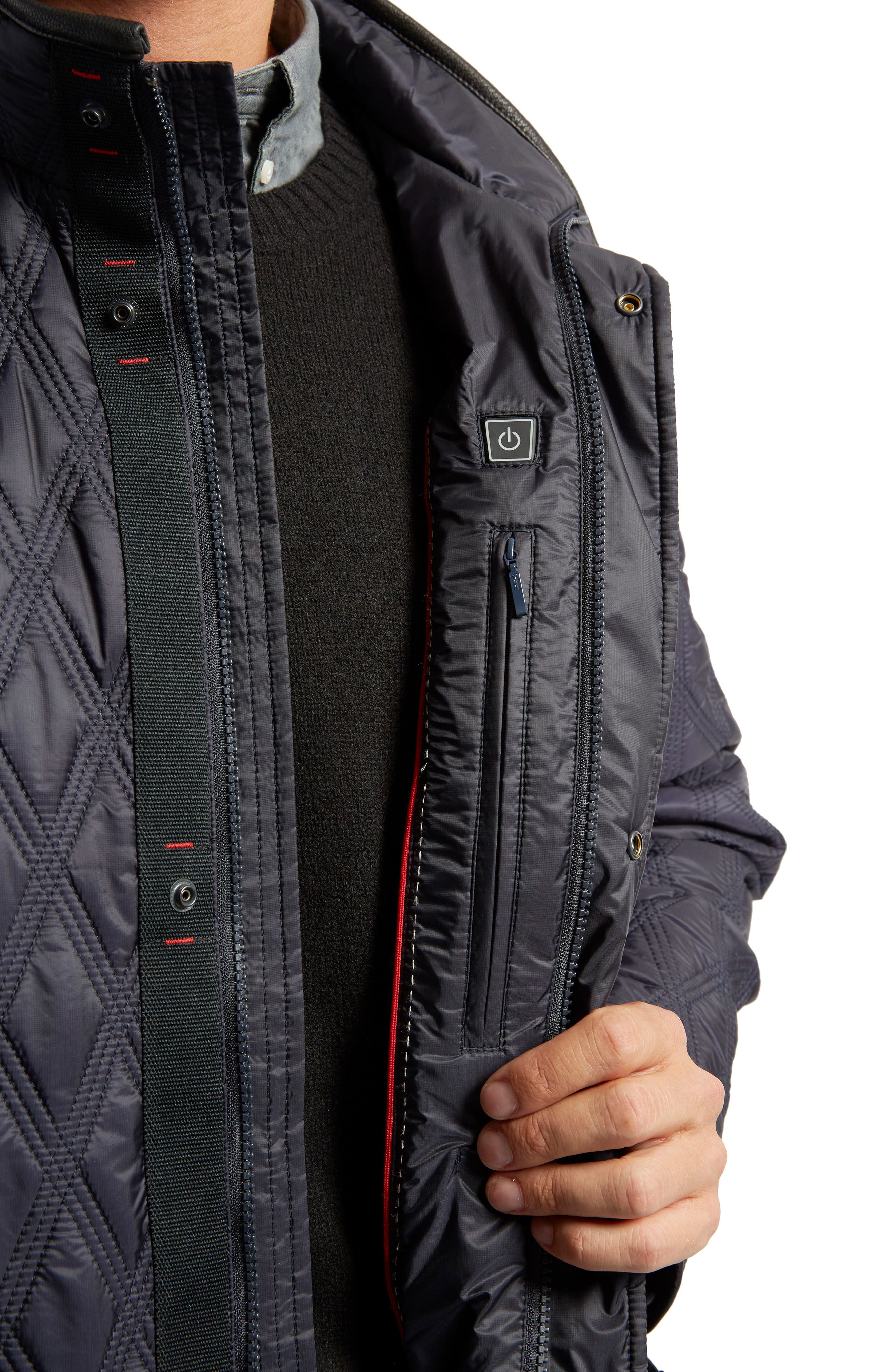 Prichard Triple Stitch Quilted Heat System Jacket,                             Alternate thumbnail 5, color,                             Midnight