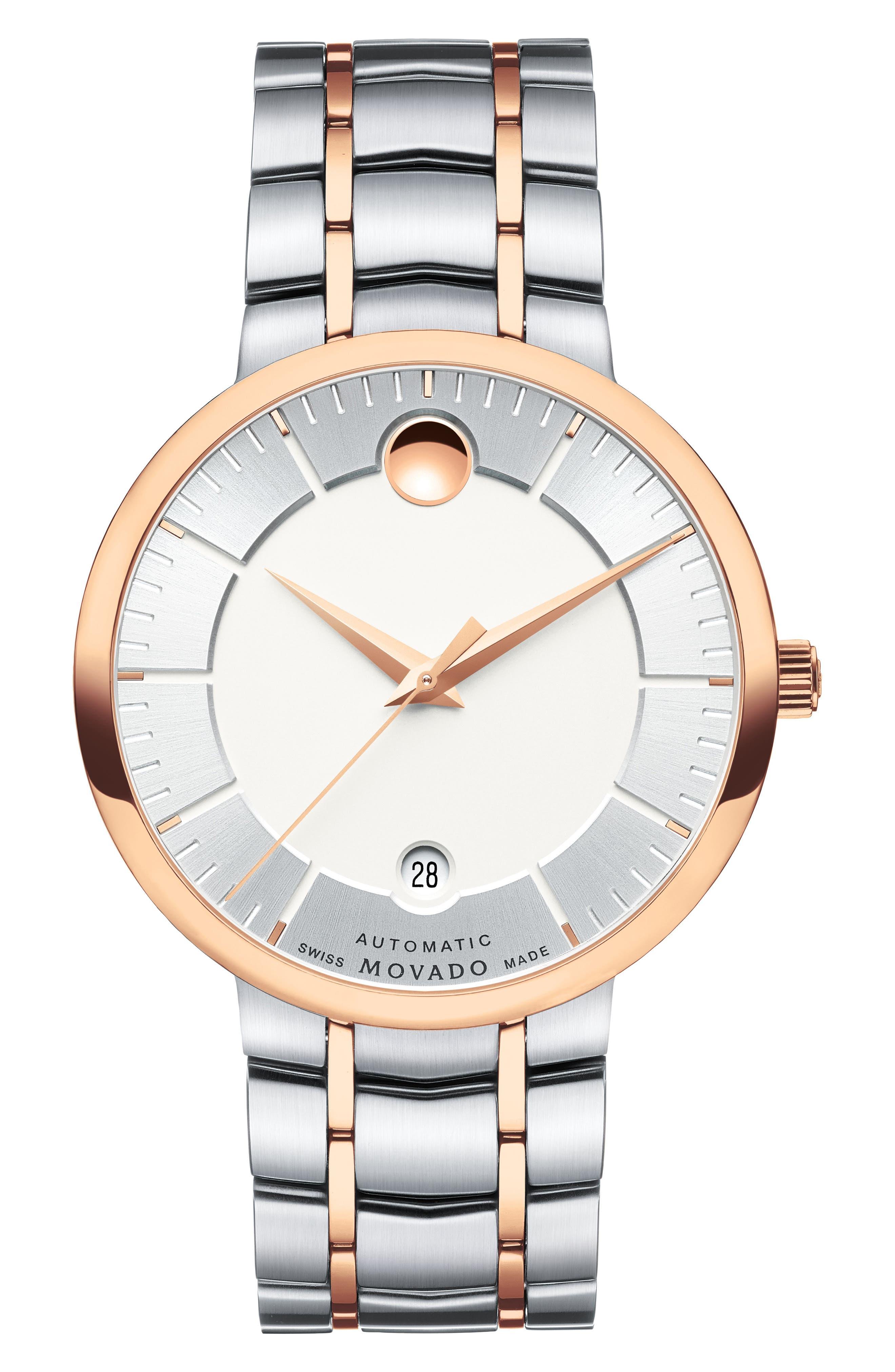 Alternate Image 1 Selected - Movado 1881 Automatic Bracelet Watch, 40mm
