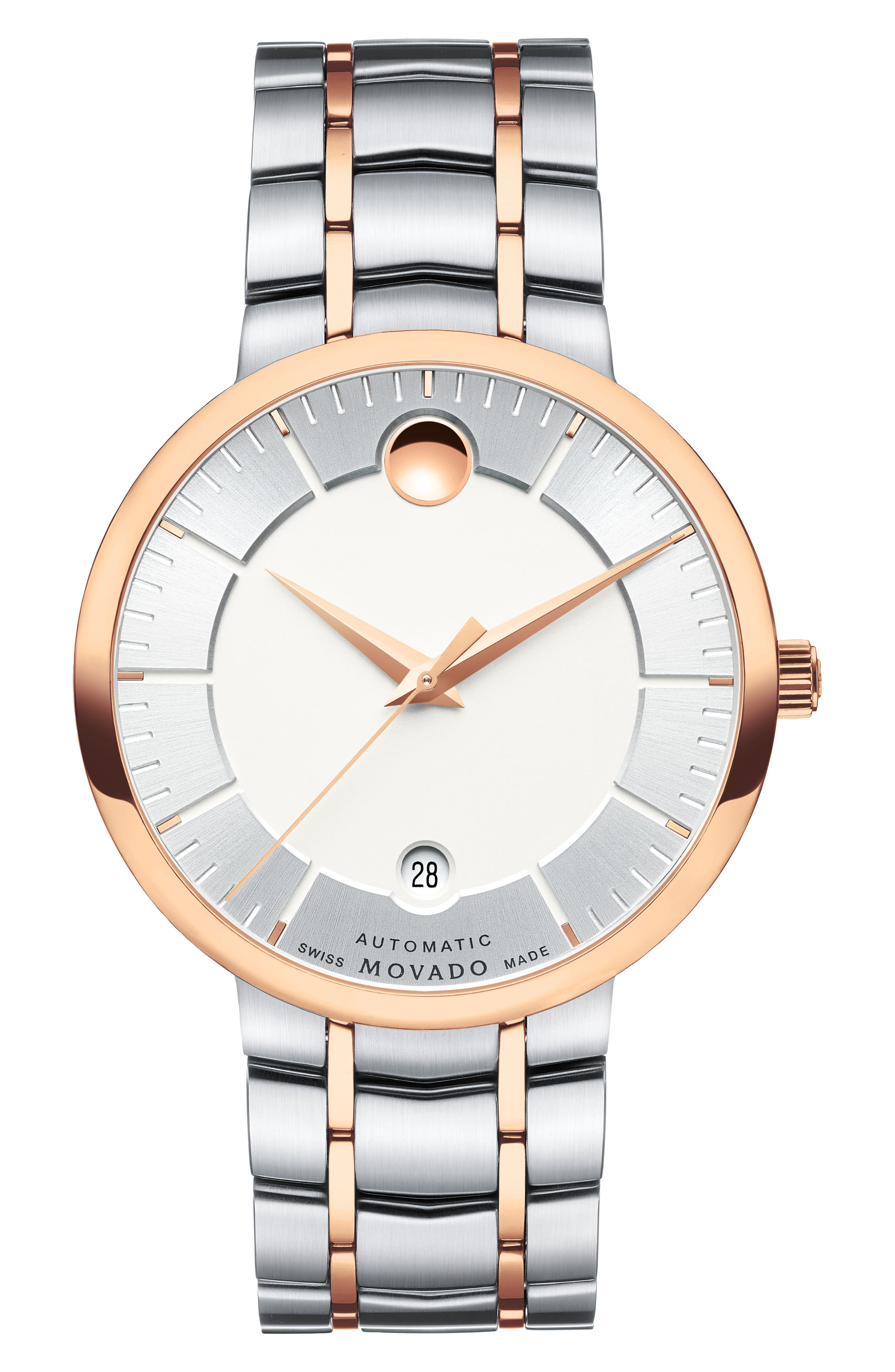 1881 Automatic Bracelet Watch, 40mm,                         Main,                         color, Silver/ Rose Gold