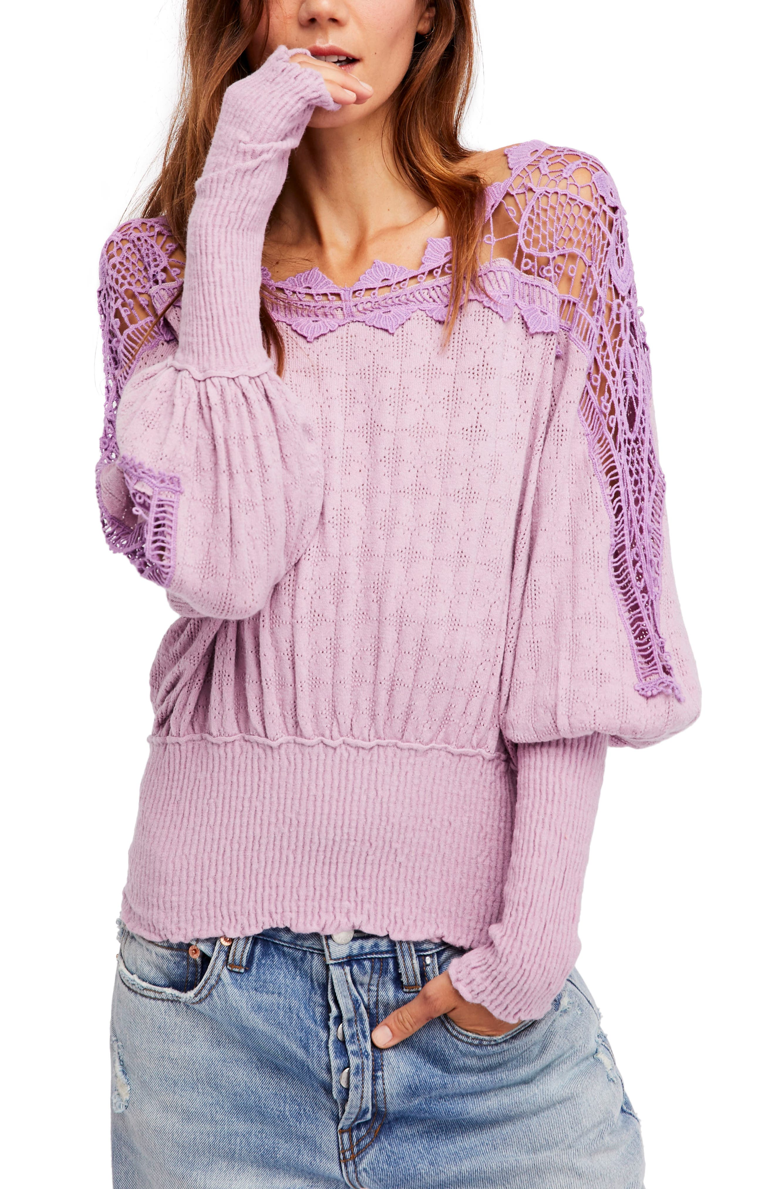 Alternate Image 1 Selected - Free People Love Lace Sweater