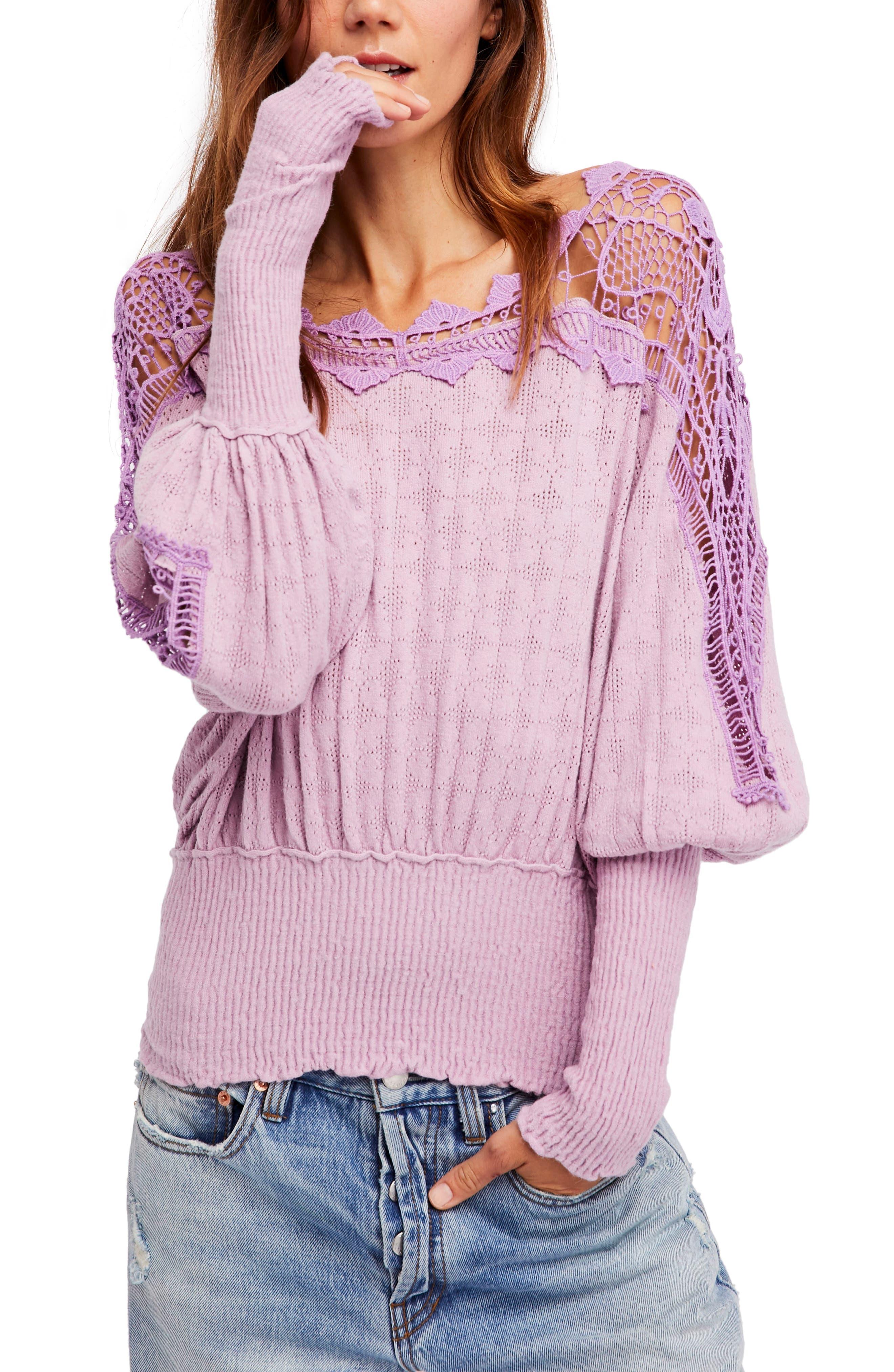 Main Image - Free People Love Lace Sweater