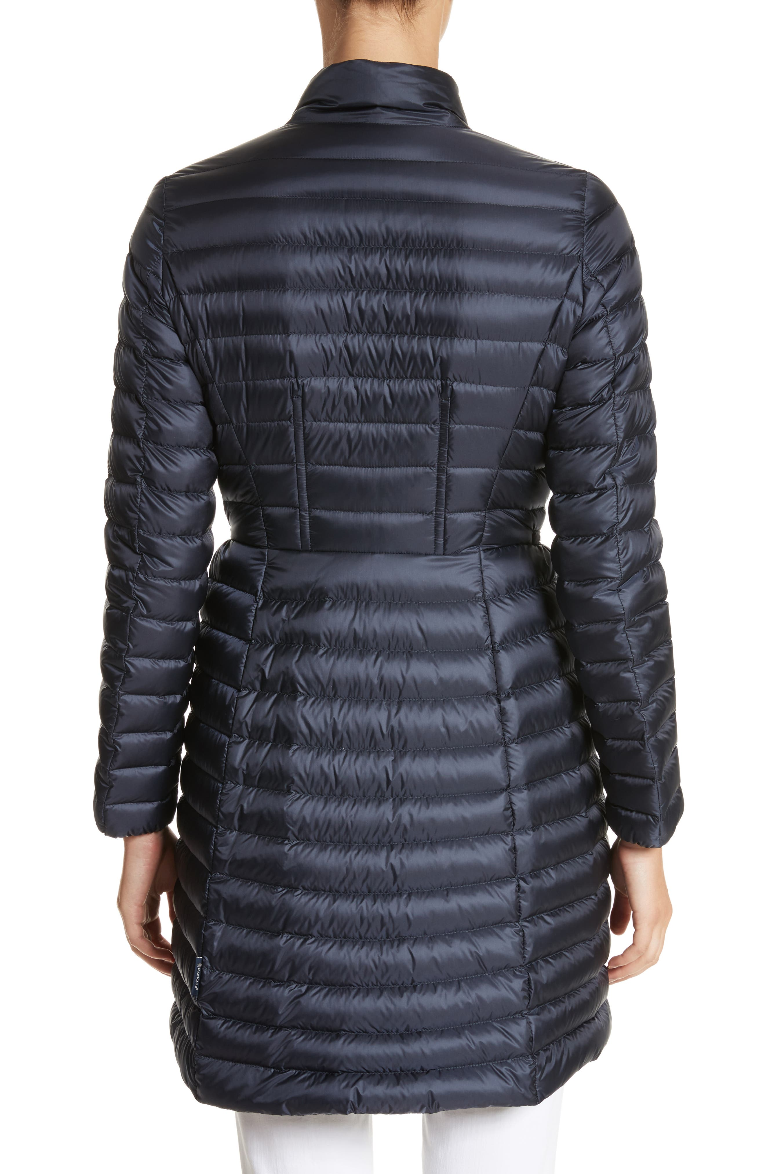 Agatelon Quilted Puffer Coat,                             Alternate thumbnail 2, color,                             Navy