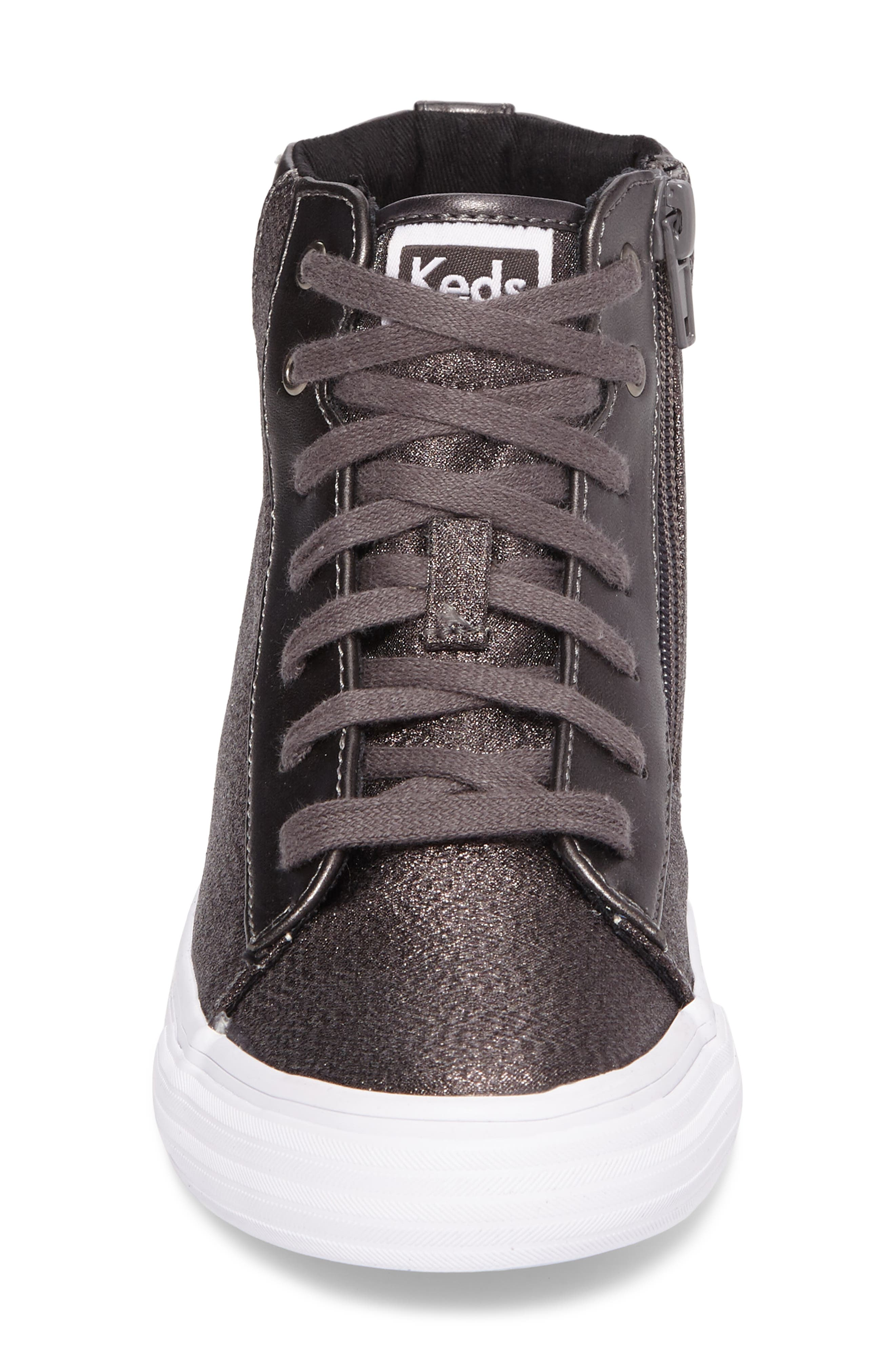 Double Up High Top Sneaker,                             Alternate thumbnail 4, color,                             Pewter