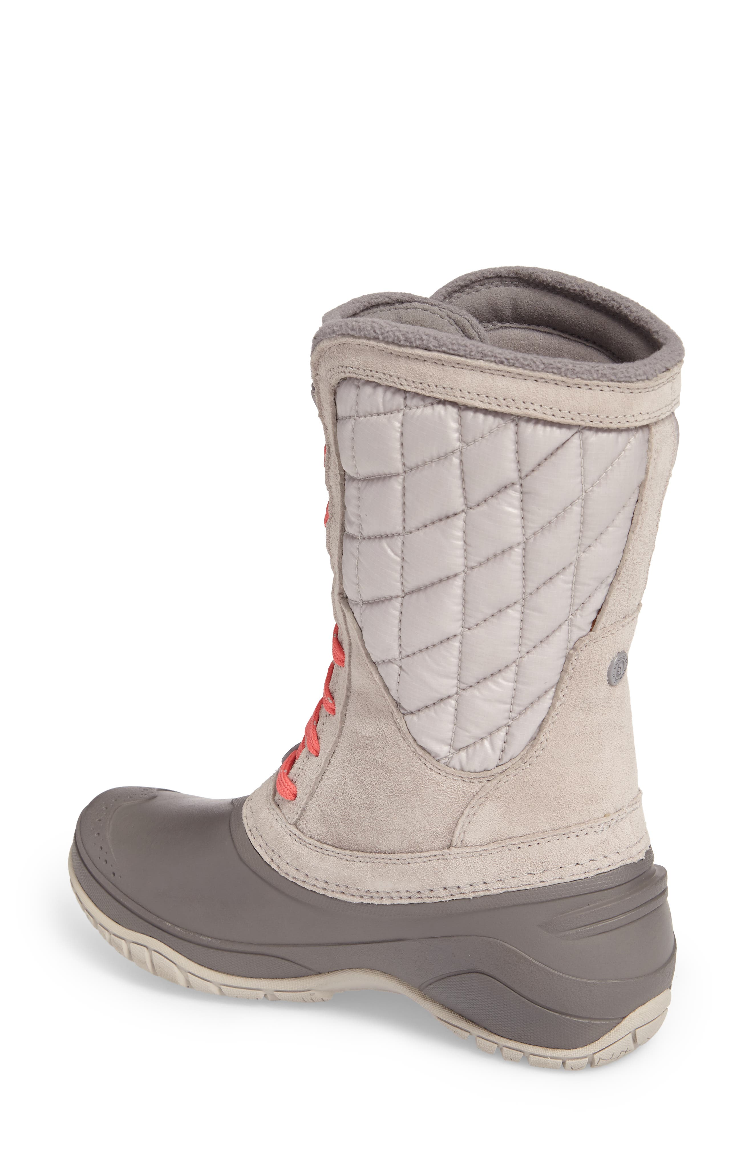 ThermoBall<sup>™</sup> Utility Waterproof Boot,                             Alternate thumbnail 2, color,                             Dove Grey/ Calypso Coral