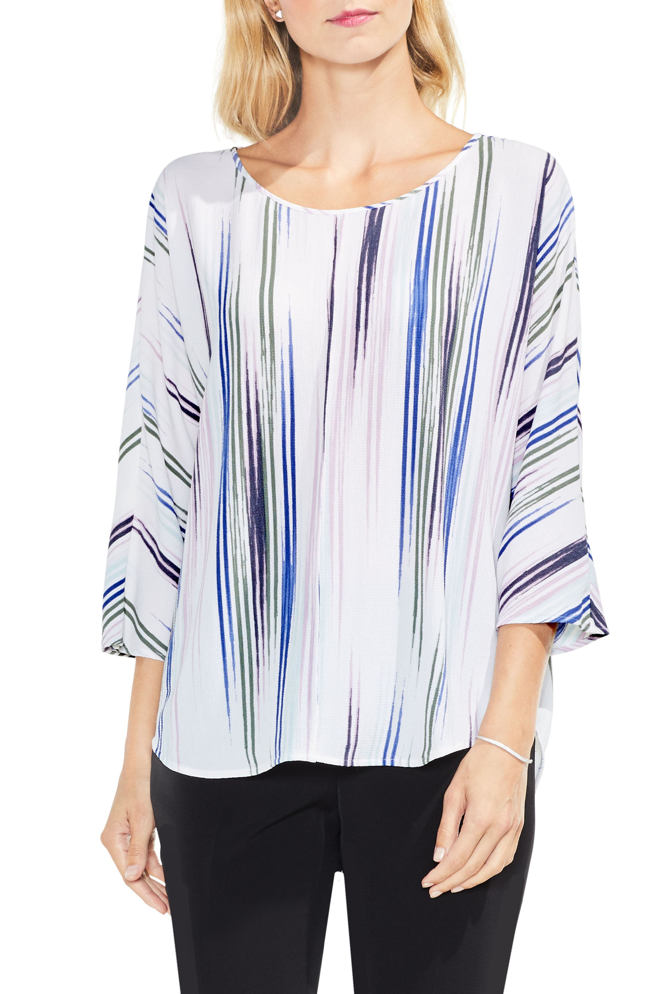 Colorful Peaks Top,                         Main,                         color, New Ivory