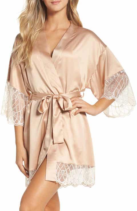 Flora Nikrooz Gabby Satin Kimono Robe Online Cheap