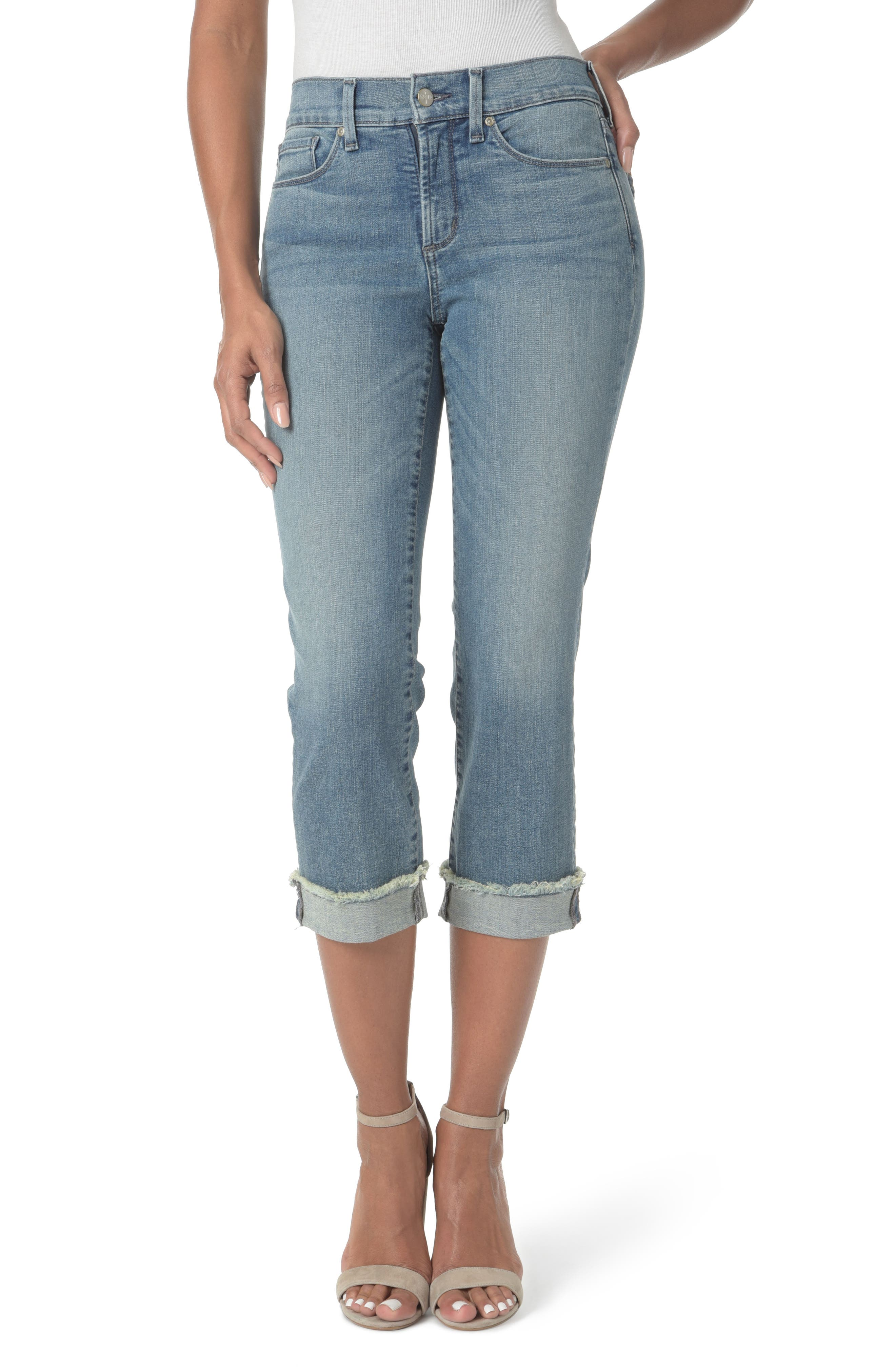 Marilyn Cropped Cuff Jeans,                             Main thumbnail 1, color,                             Pacific