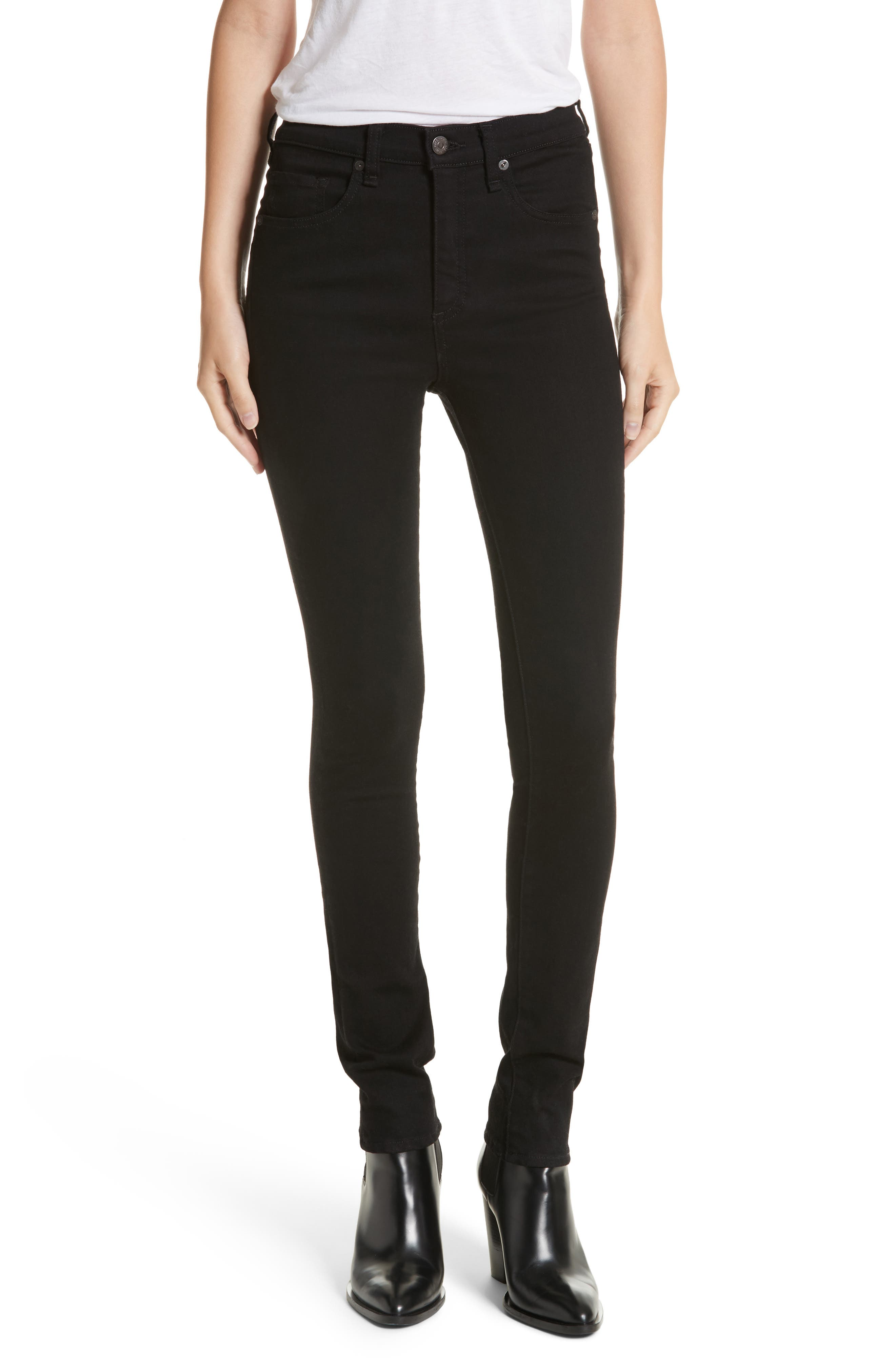 Kate 10 Skinny Jeans,                         Main,                         color, Raven