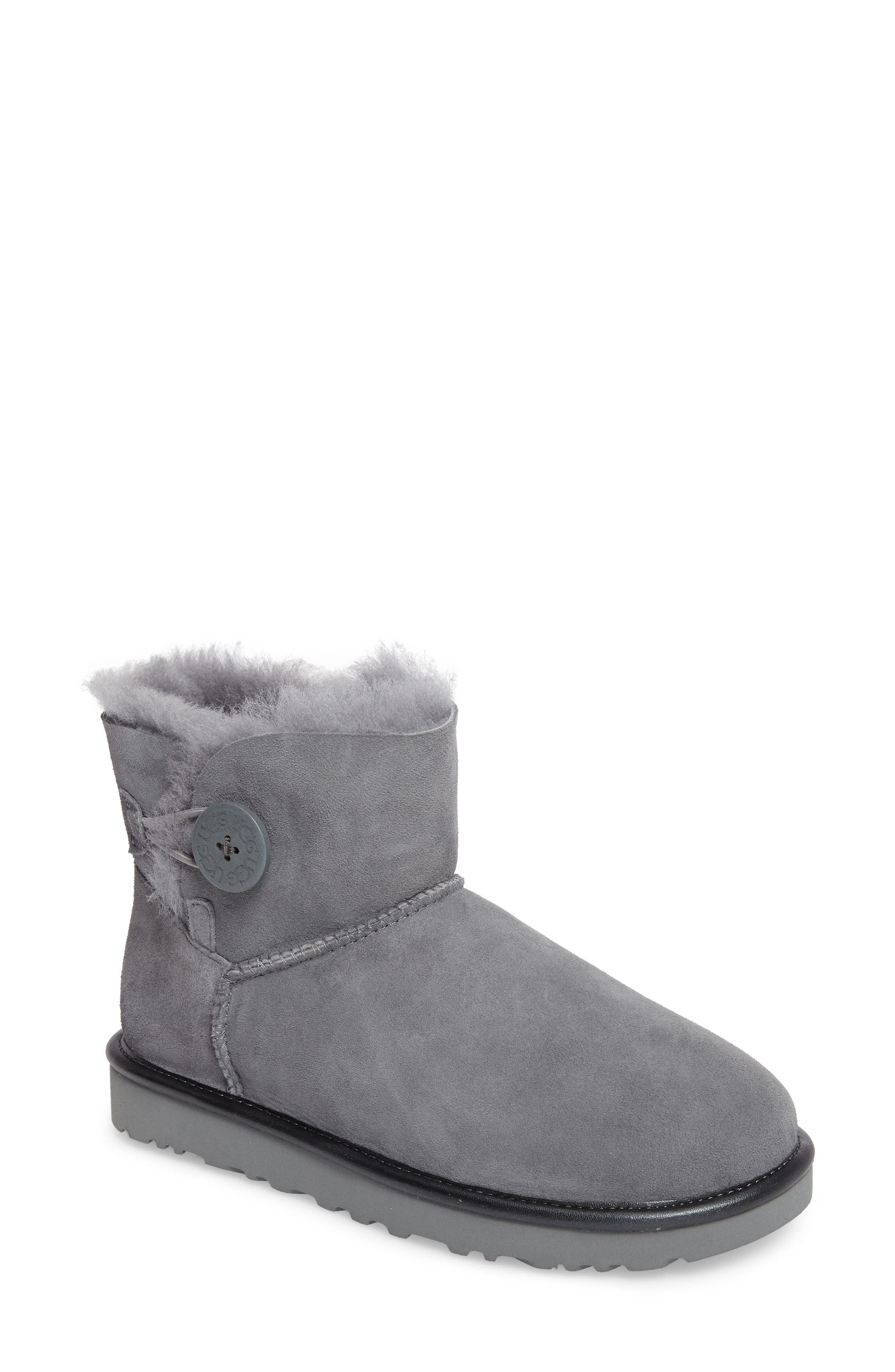 UGG® Mini Bailey Button II Genuine Shearling Lined Boot (Women)