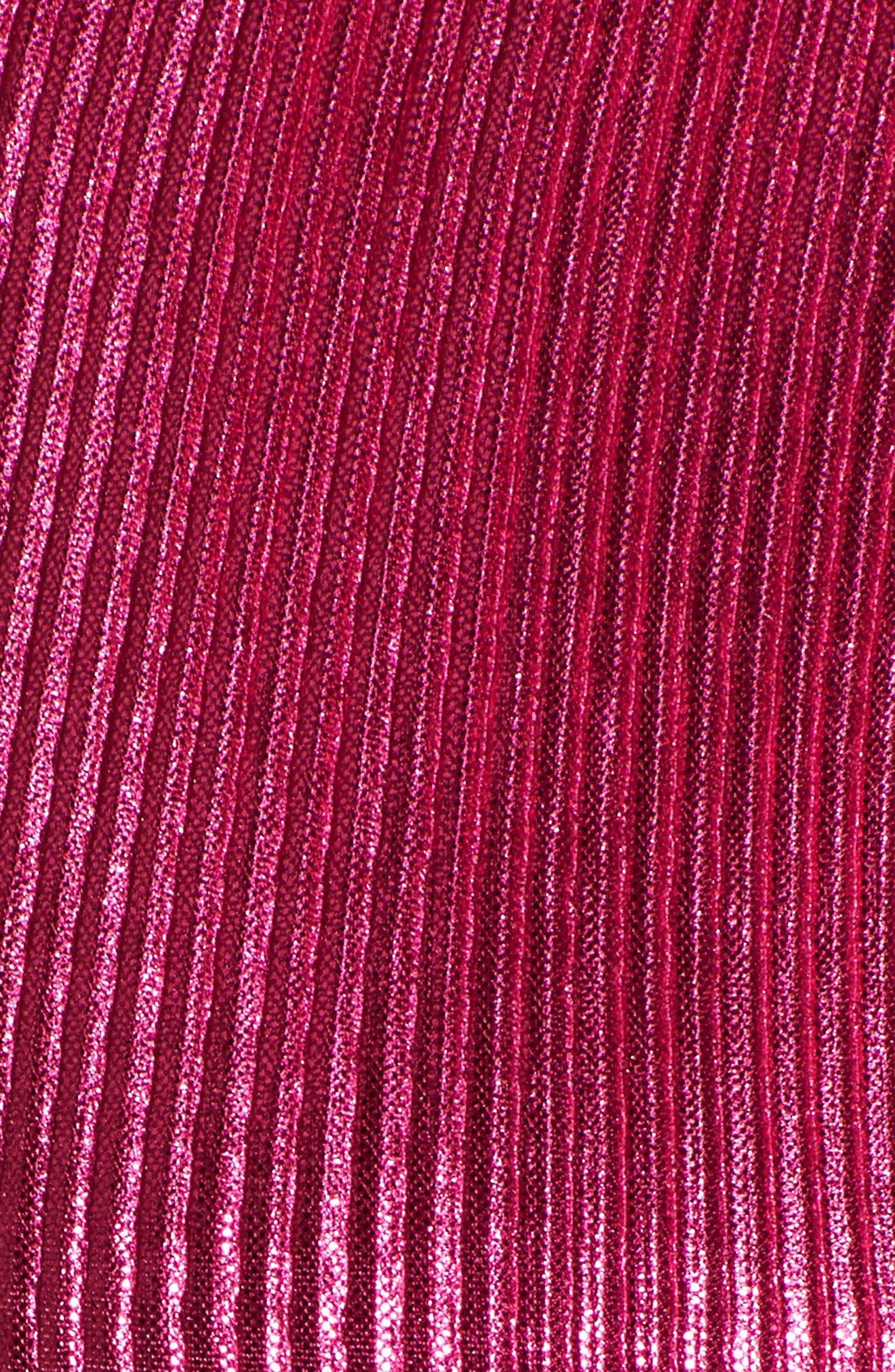 Marion Tie Crop Top,                             Alternate thumbnail 6, color,                             Fuchsia