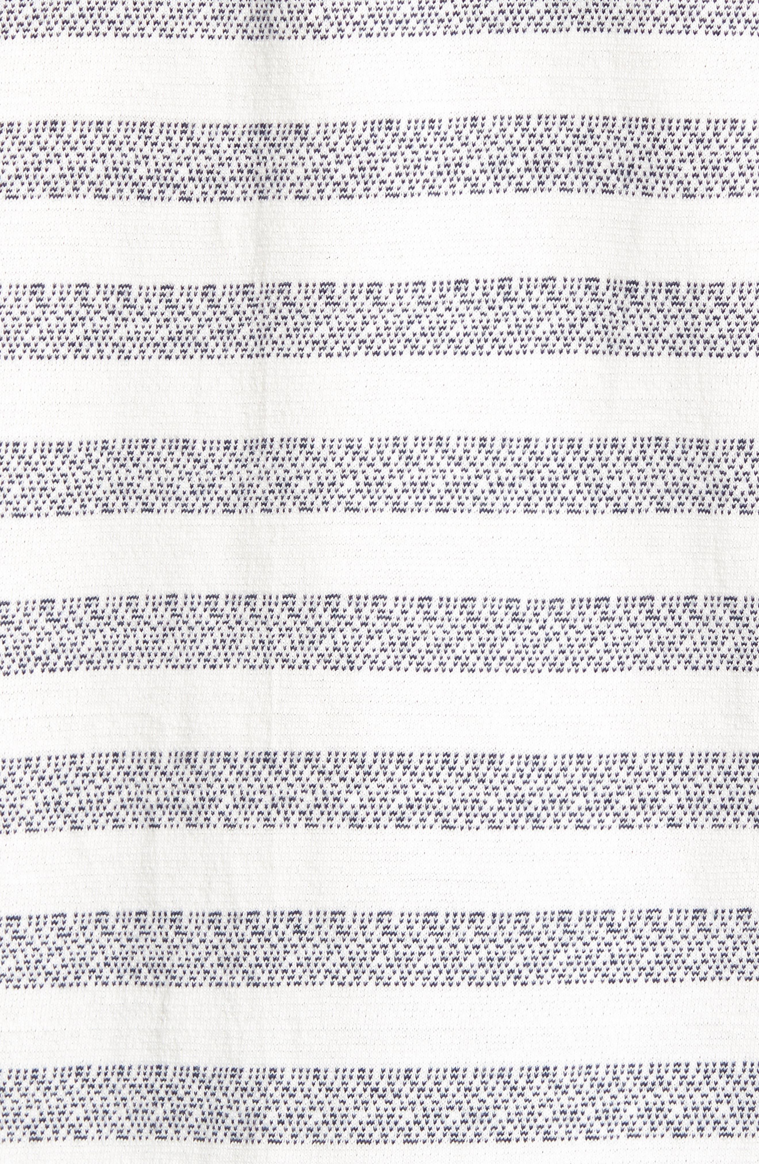 What's Shakin' Stripe T-Shirt,                             Alternate thumbnail 5, color,                             Antique White