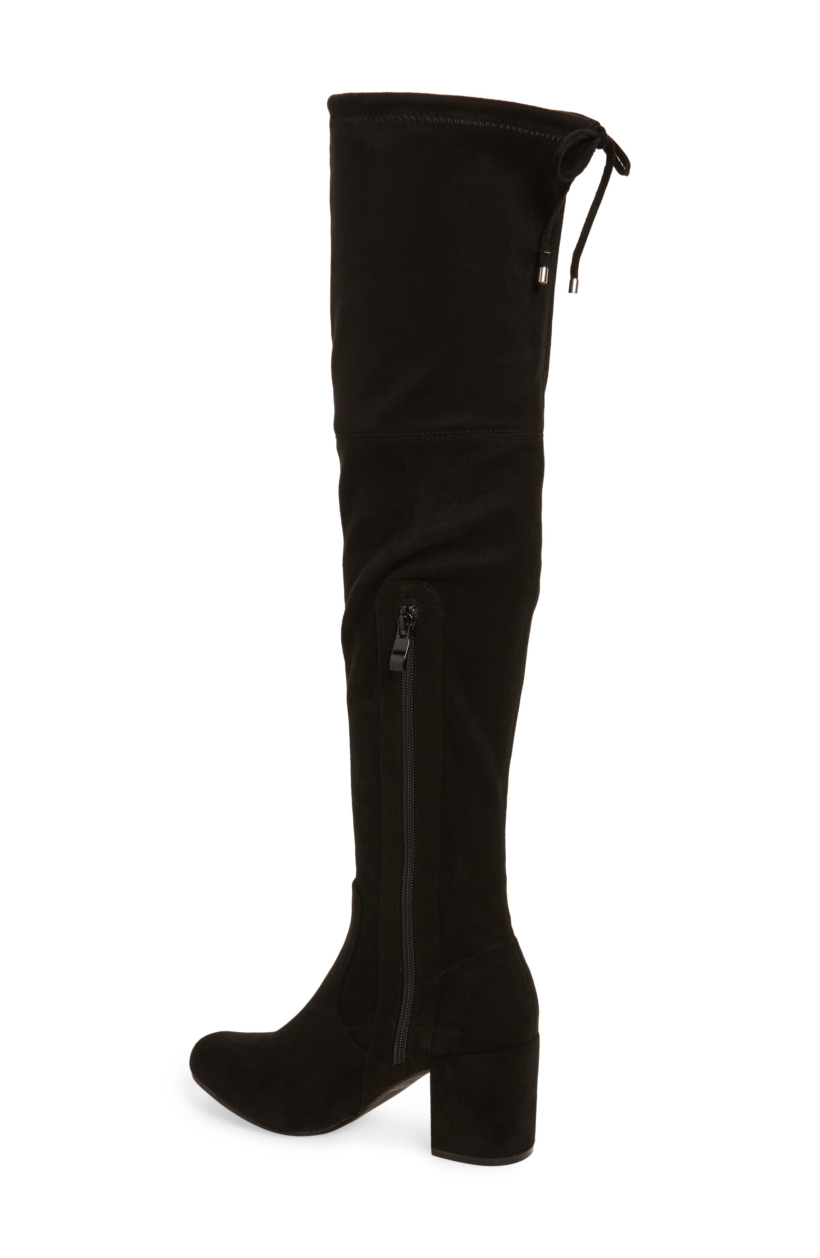 Heartbeat Over the Knee Boot,                             Alternate thumbnail 2, color,                             Black