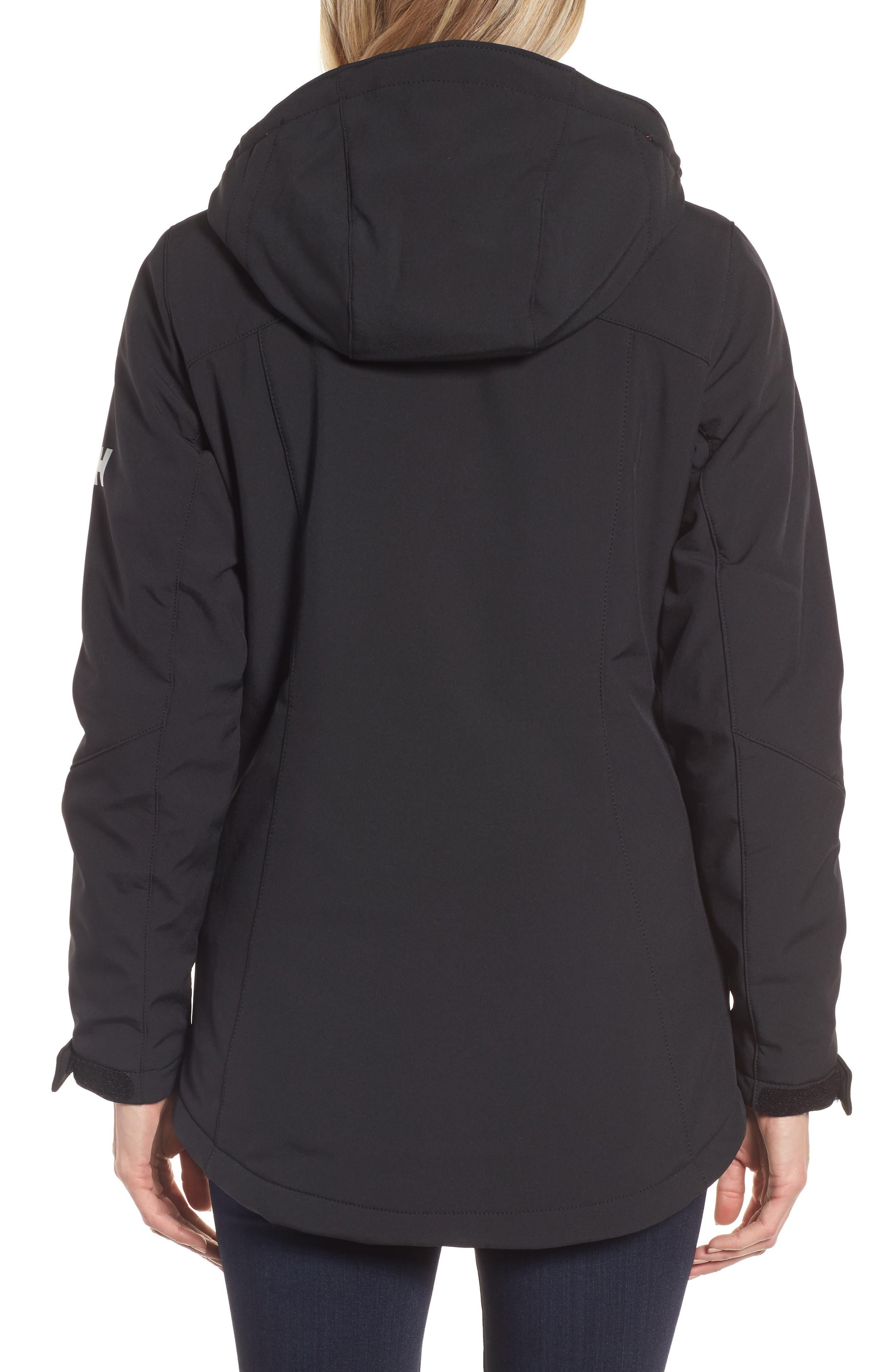 Lofn Hooded Insulated Soft Shell Jacket,                             Alternate thumbnail 2, color,                             Black
