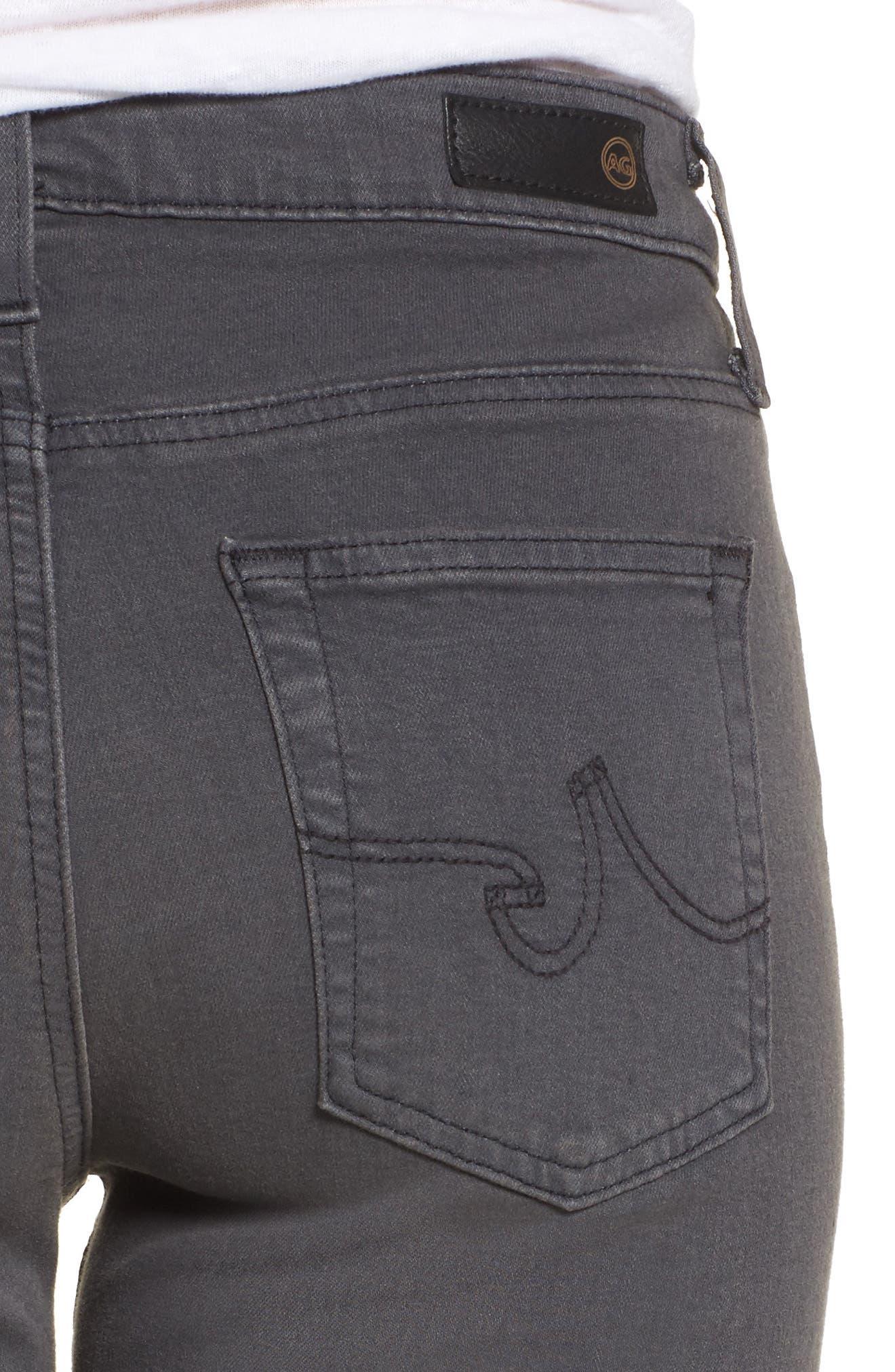 Alternate Image 4  - AG Farrah High WaistSkinny Jeans (4 Years Earl Grey)