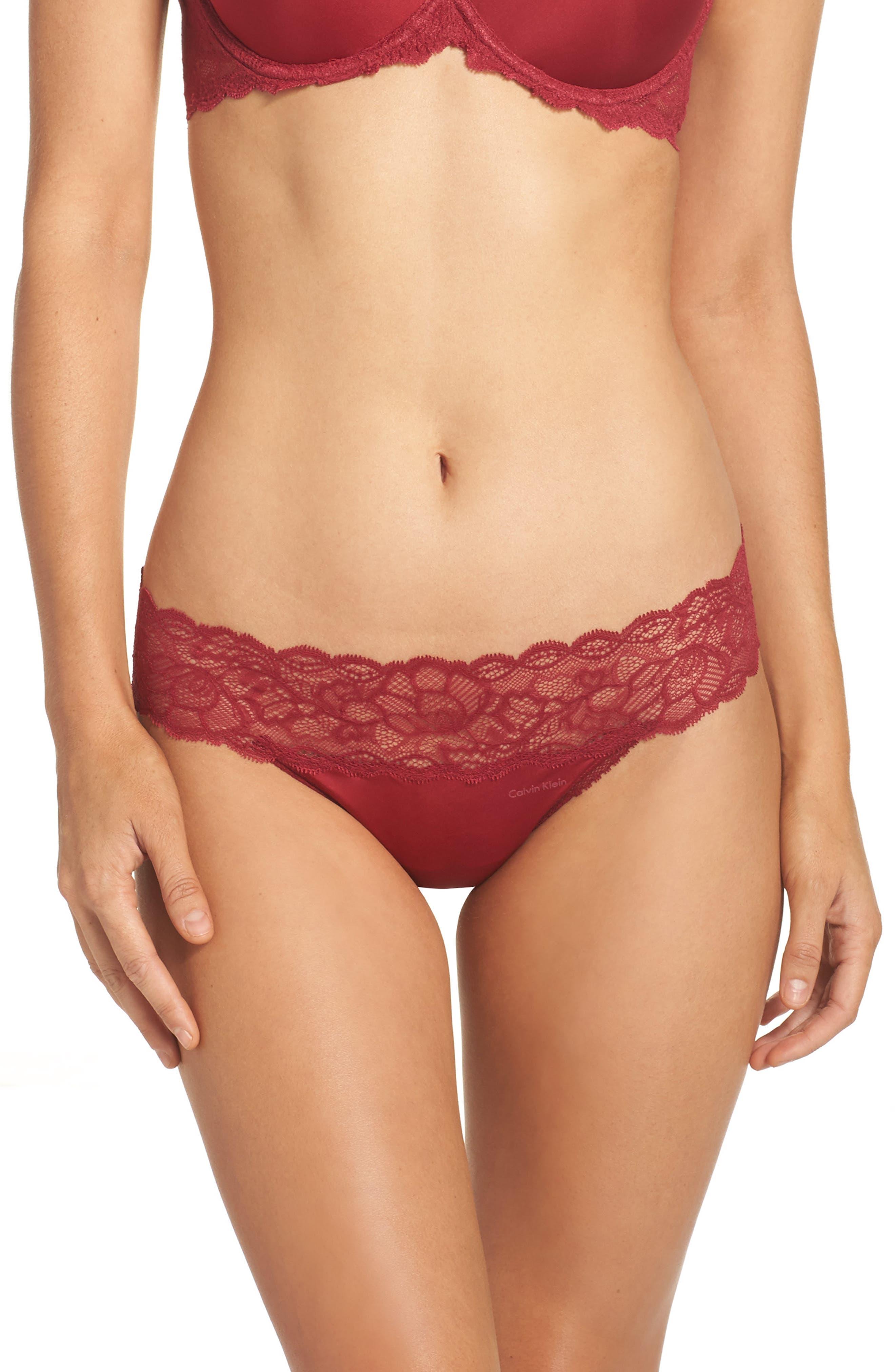 Main Image - Calvin Klein Seductive Comfort Lace Thong