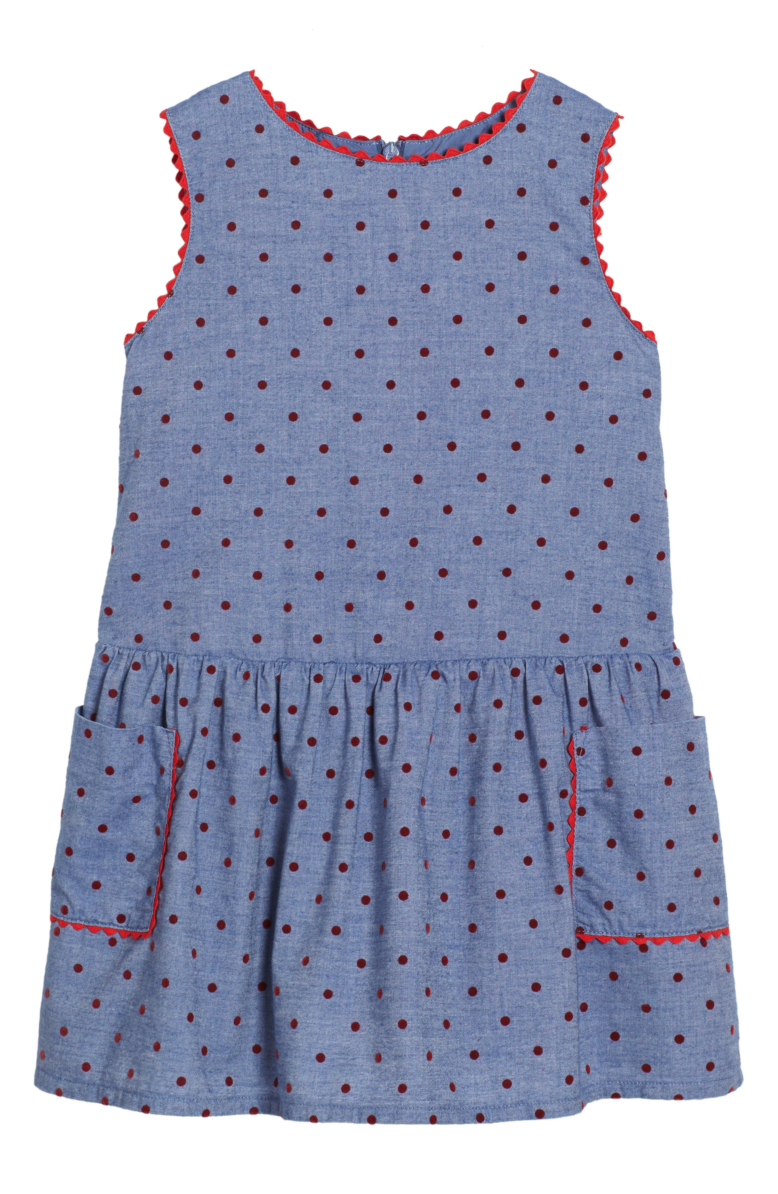Mini Boden Plaid Pinafore Dress (Toddler Girls, Little Girls & Big Girls)