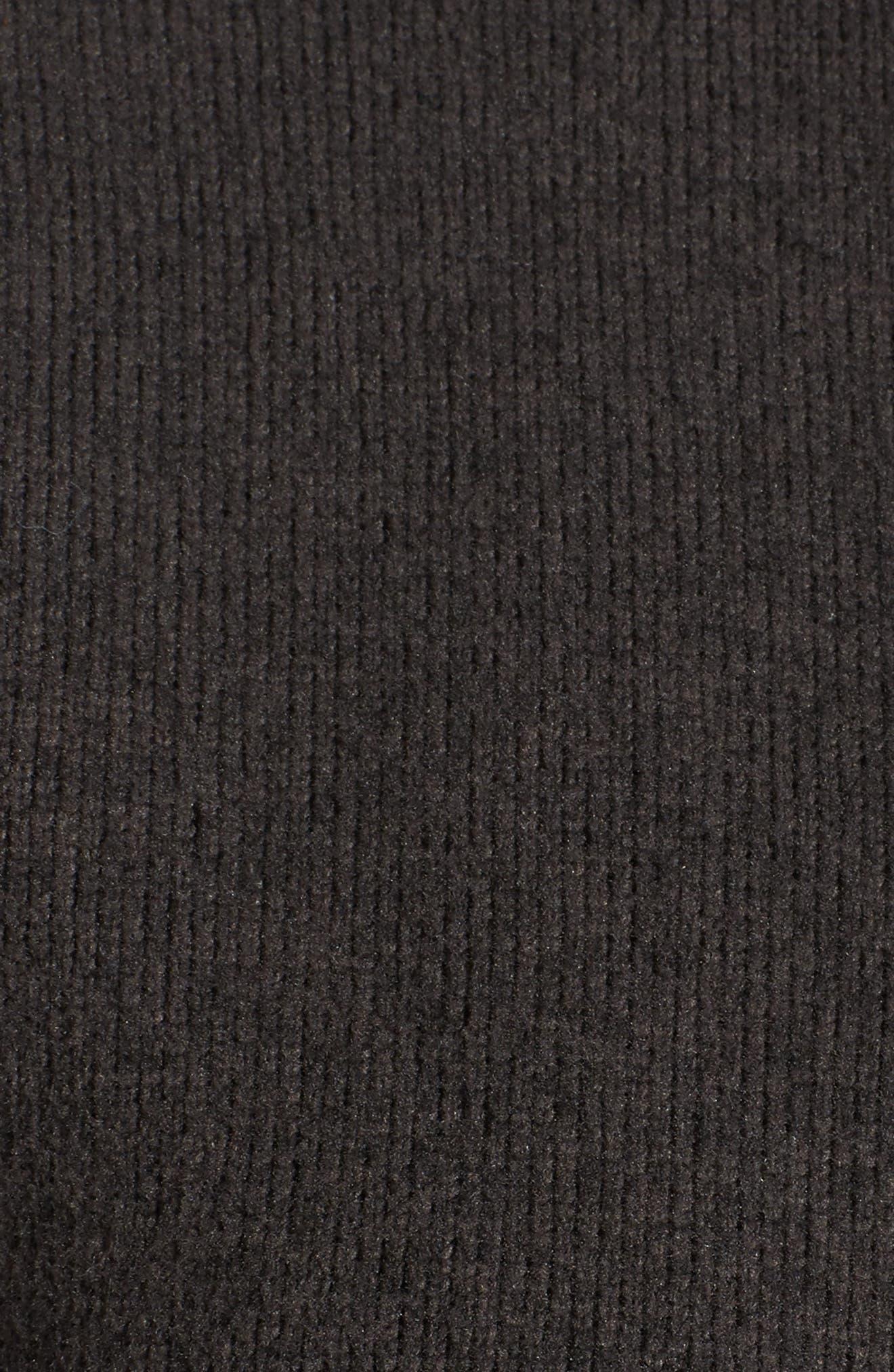 Crescent Parka Fleece,                             Alternate thumbnail 6, color,                             Tnf Black Heather